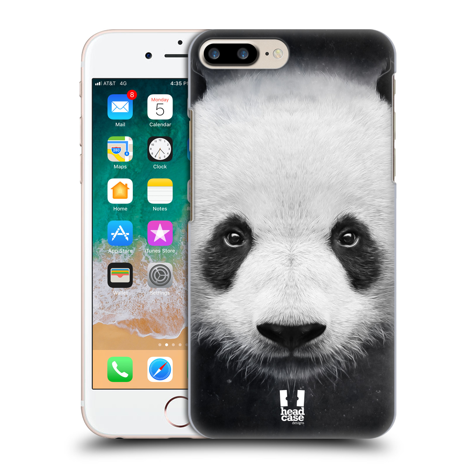 HEAD CASE plastový obal na mobil Apple Iphone 7 PLUS vzor Zvířecí tváře medvěd panda