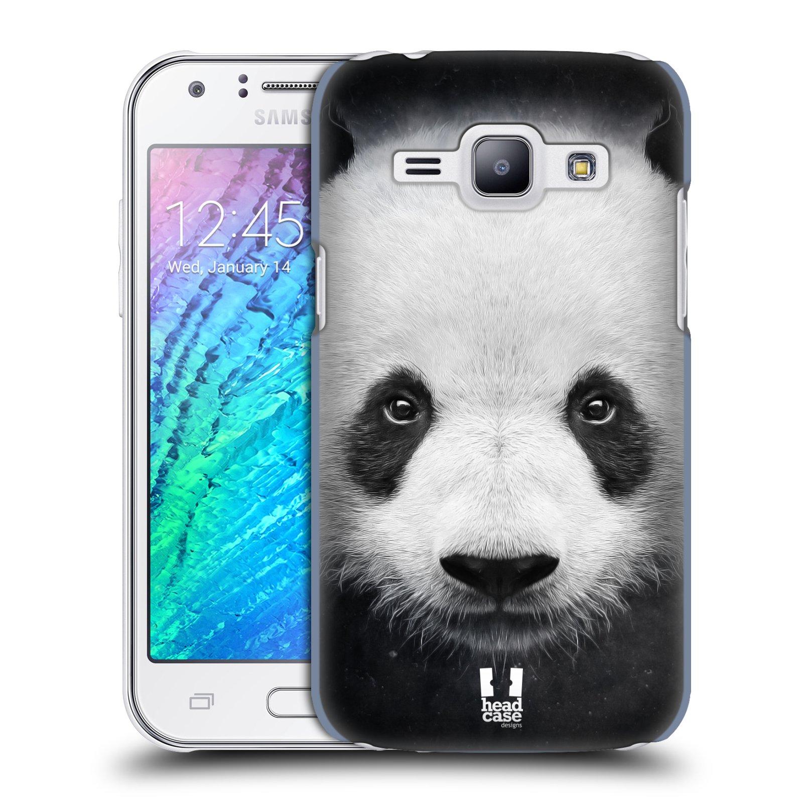 HEAD CASE plastový obal na mobil SAMSUNG Galaxy J1, J100 vzor Zvířecí tváře medvěd panda