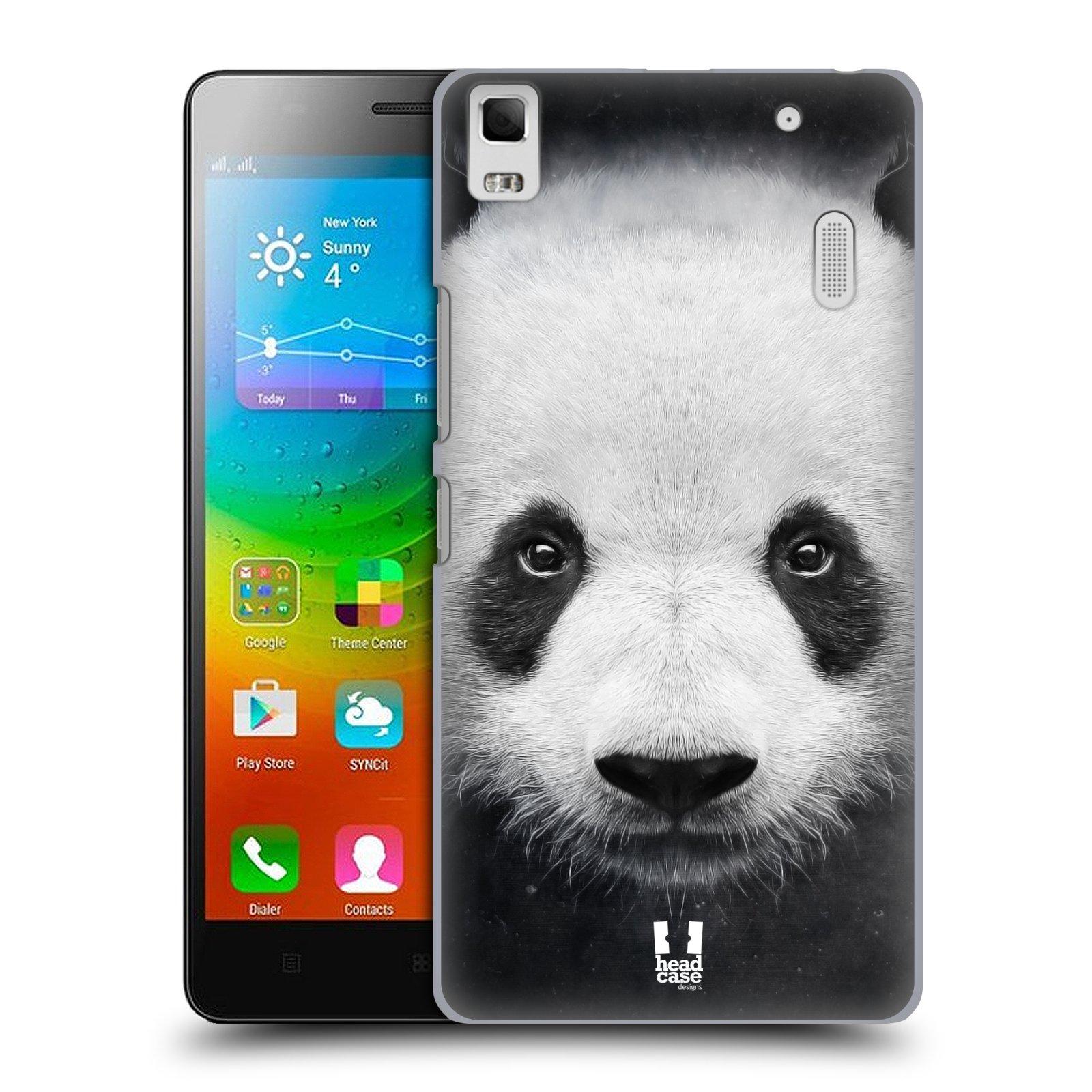 HEAD CASE pevný plastový obal na mobil LENOVO A7000 / A7000 DUAL / K3 NOTE vzor Zvířecí tváře medvěd panda