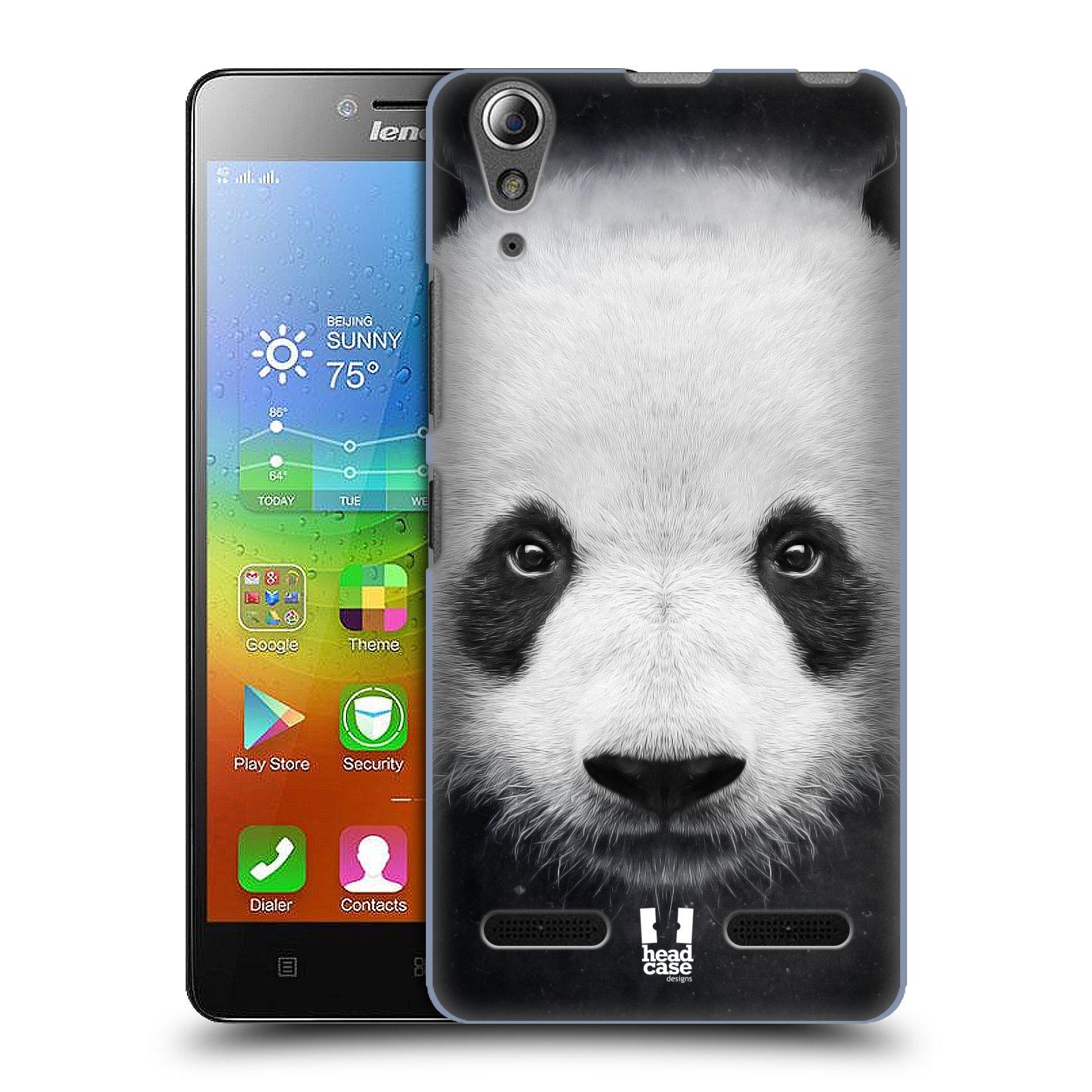 HEAD CASE pevný plastový obal na mobil LENOVO A6000 / A6000 PLUS vzor Zvířecí tváře medvěd panda