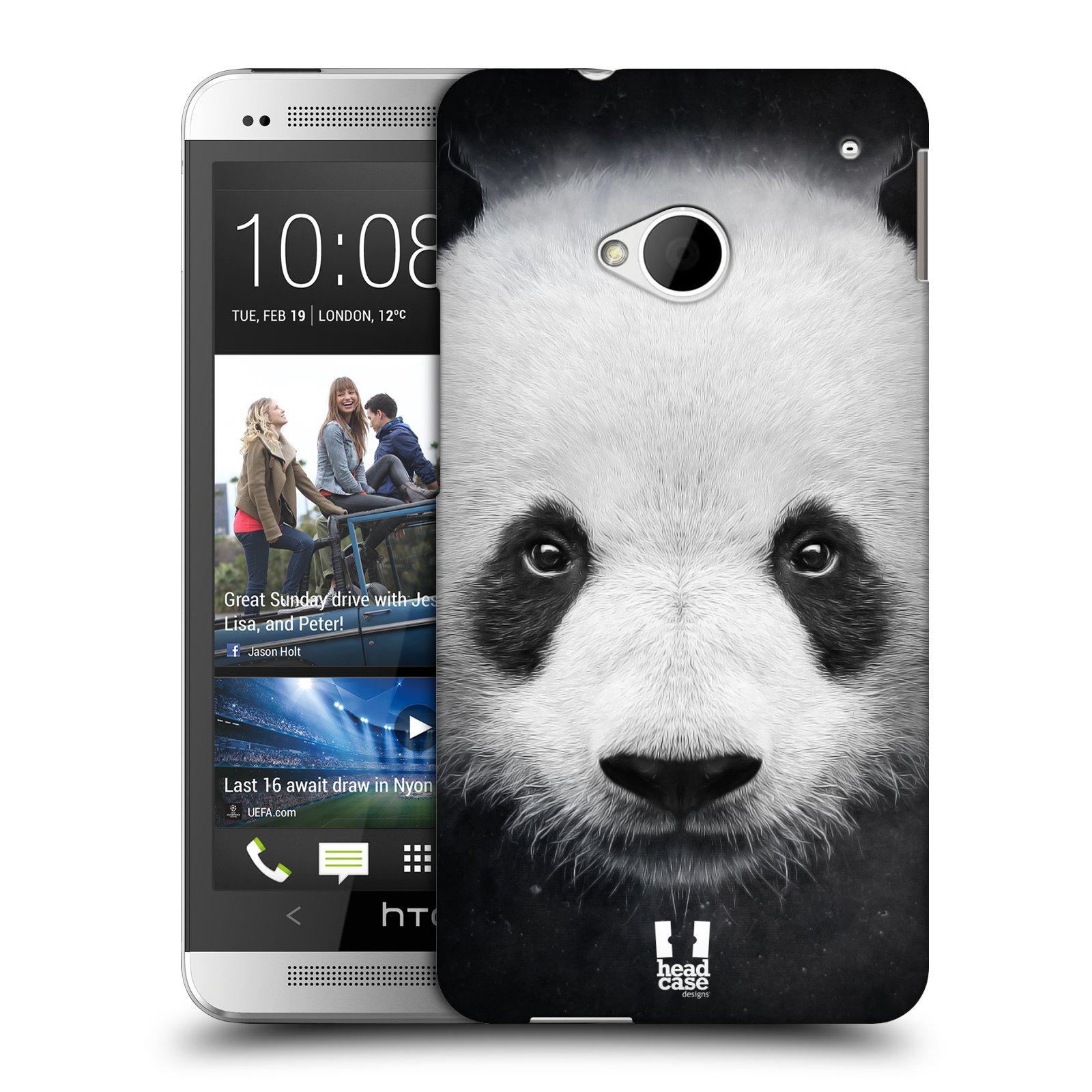 HEAD CASE plastový obal na mobil HTC One (M7) vzor Zvířecí tváře medvěd panda