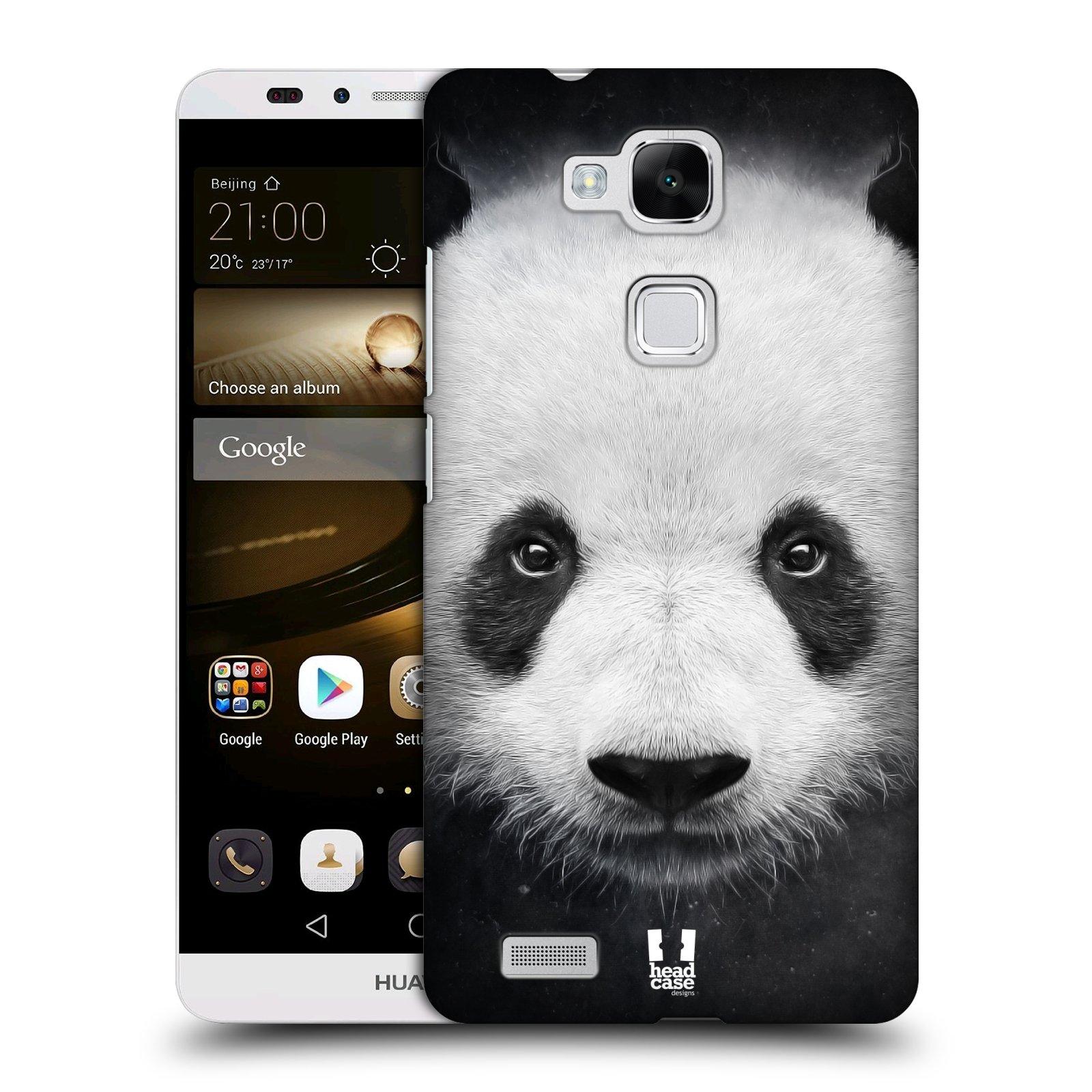 HEAD CASE plastový obal na mobil Huawei Mate 7 vzor Zvířecí tváře medvěd panda