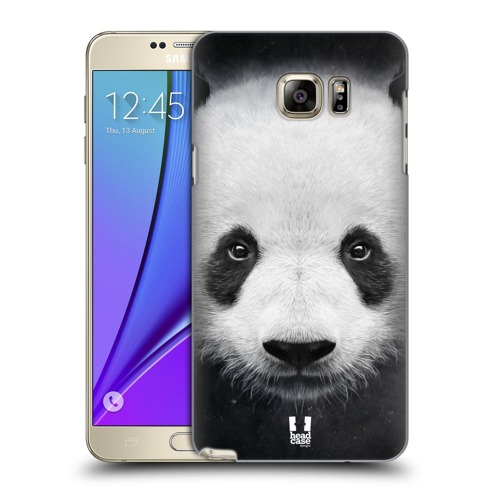 HEAD CASE plastový obal na mobil SAMSUNG Galaxy Note 5 (N920) vzor Zvířecí tváře medvěd panda