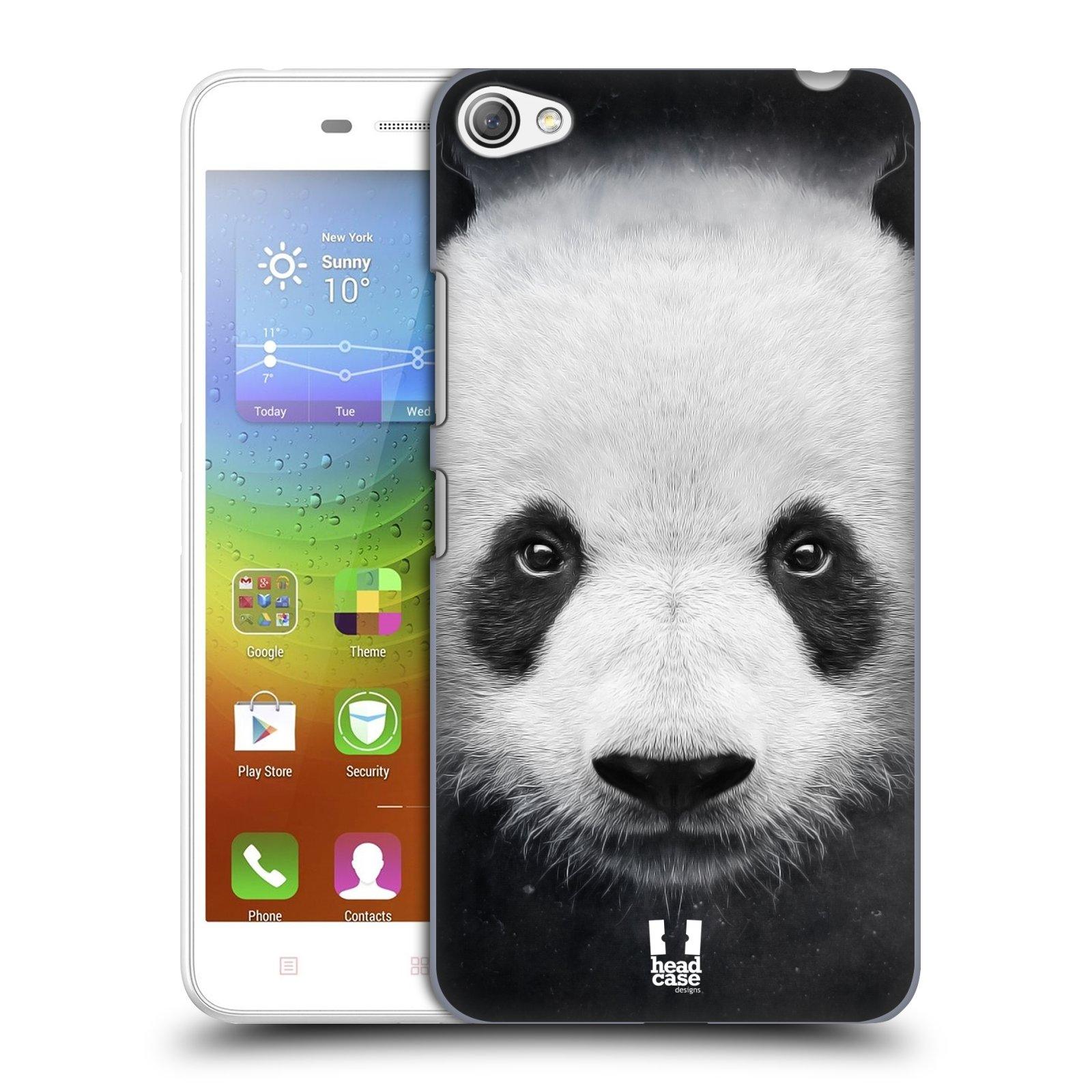 HEAD CASE pevný plastový obal na mobil LENOVO S60 / LENOVO S60 DUAL SIM vzor Zvířecí tváře medvěd panda