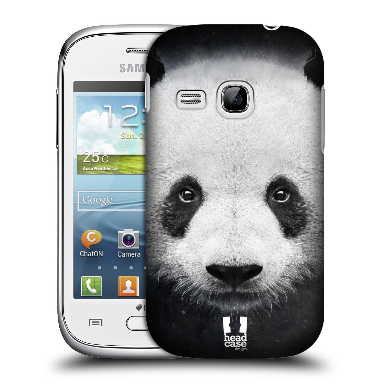HEAD CASE plastový obal na mobil SAMSUNG Galaxy Young S6310 vzor Zvířecí tváře medvěd panda