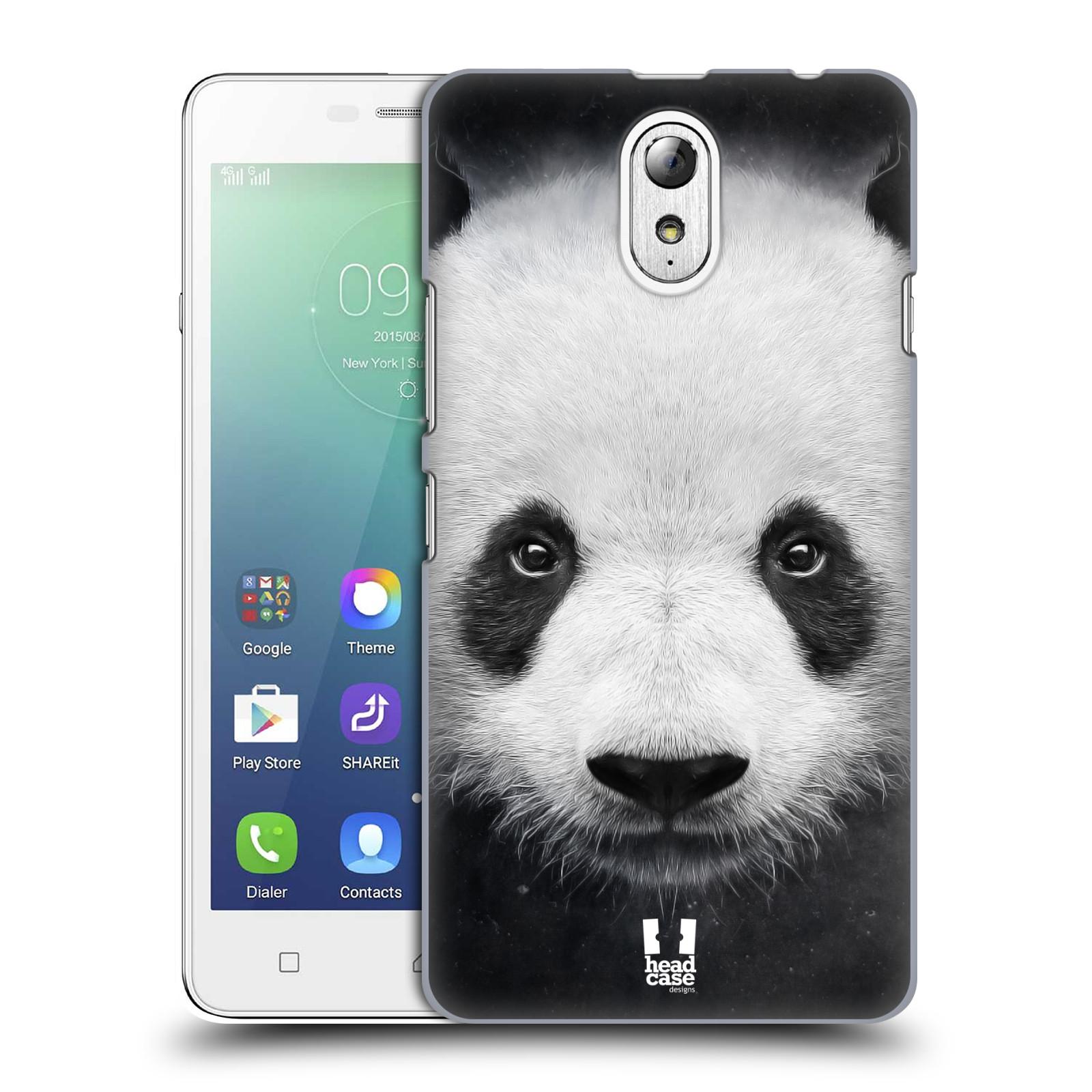HEAD CASE pevný plastový obal na mobil LENOVO VIBE P1m / LENOVO VIBE p1m DUAL SIM vzor Zvířecí tváře medvěd panda