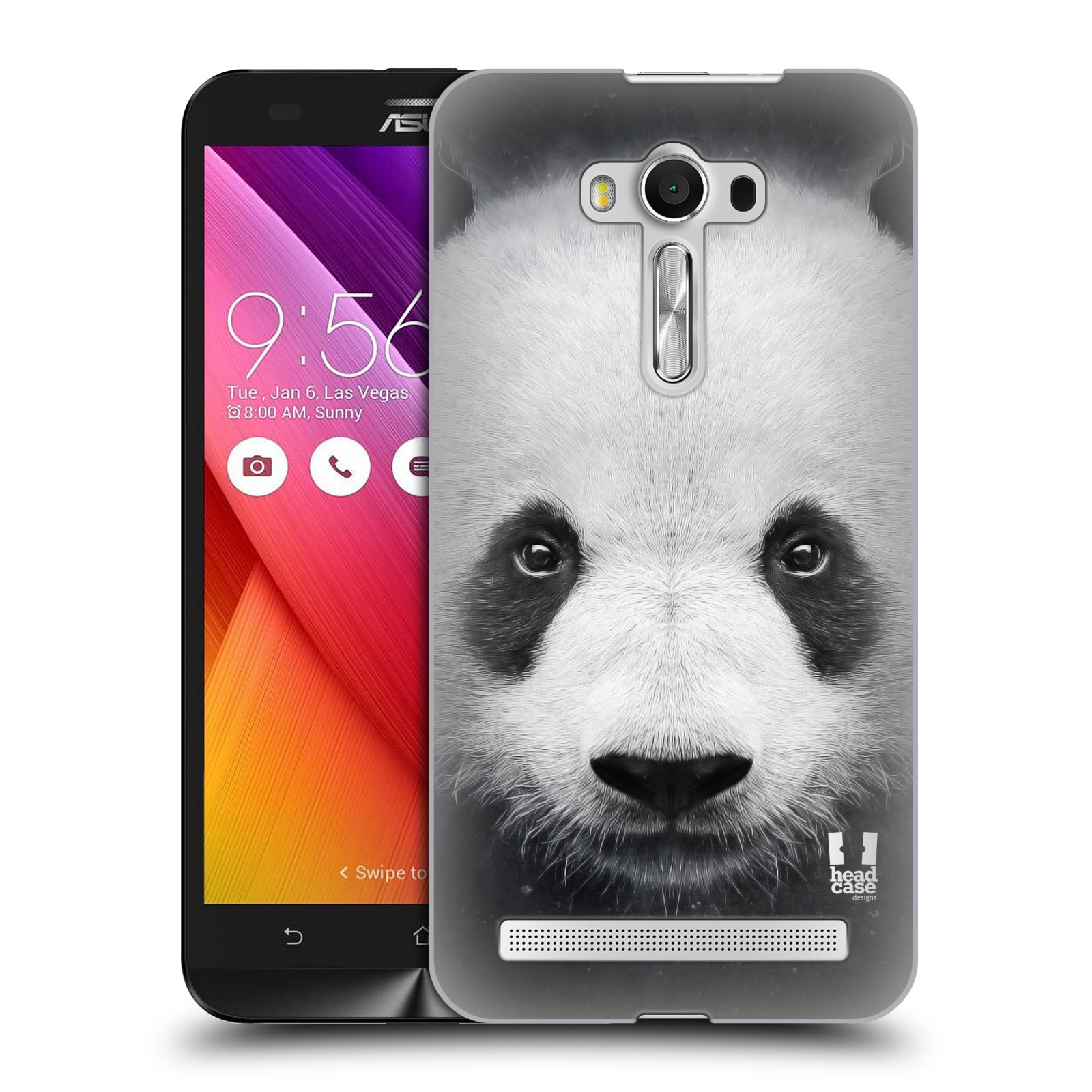 HEAD CASE plastový obal na mobil Asus Zenfone 2 LASER (5,5 displej ZE550KL) vzor Zvířecí tváře medvěd panda