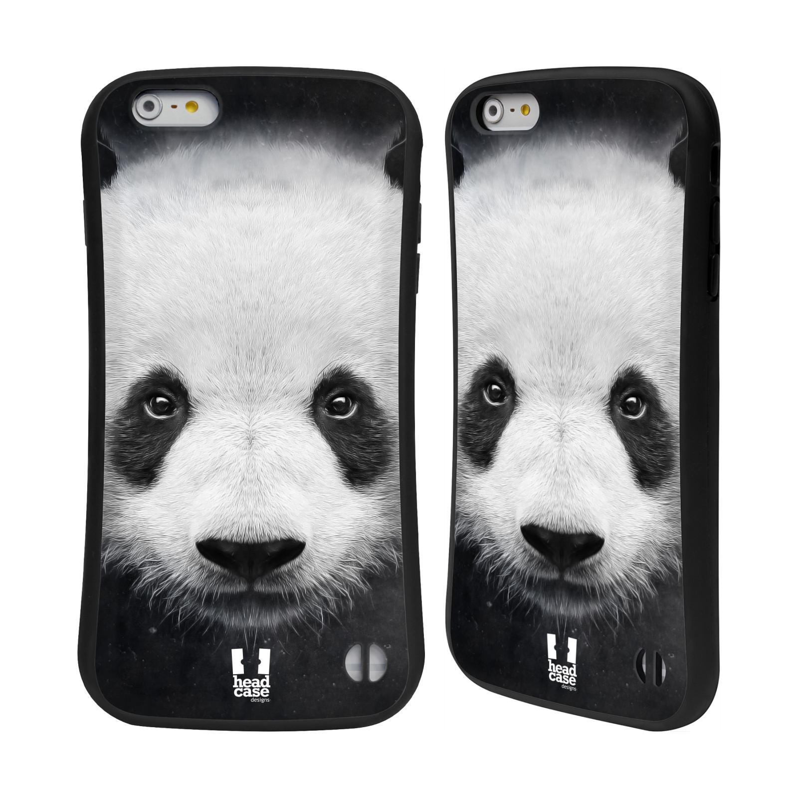 HEAD CASE silikon/plast odolný obal na mobil Apple Iphone 6 PLUS / 6S PLUS vzor Zvířecí tváře medvěd panda