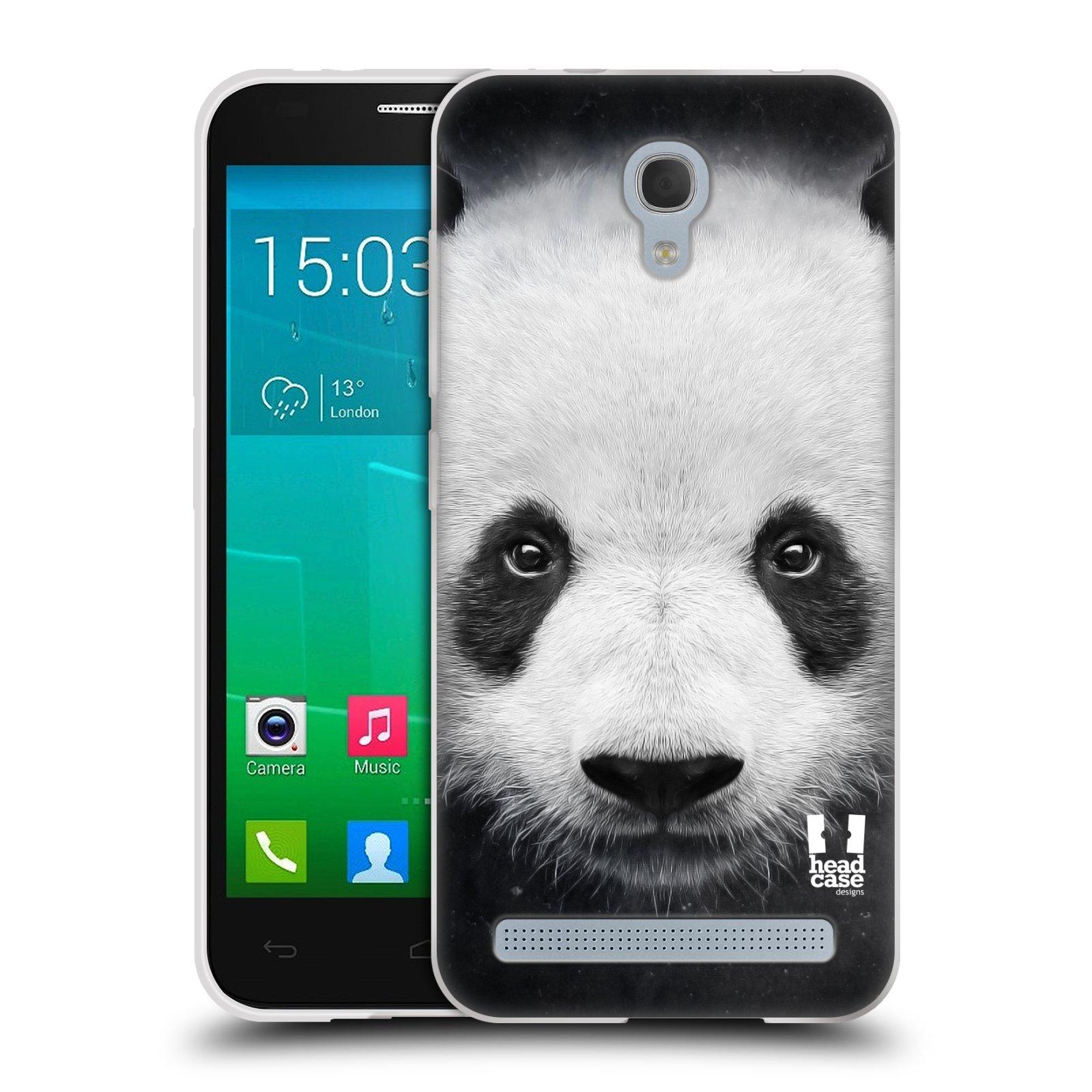 HEAD CASE silikonový obal na mobil Alcatel Idol 2 MINI S 6036Y vzor Zvířecí tváře medvěd panda