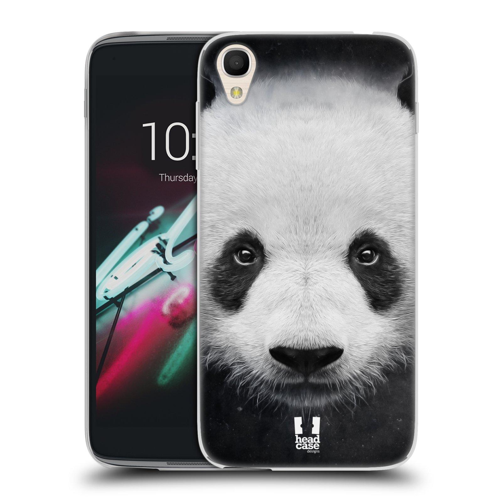 HEAD CASE silikonový obal na mobil Alcatel Idol 3 OT-6039Y (4.7) vzor Zvířecí tváře medvěd panda