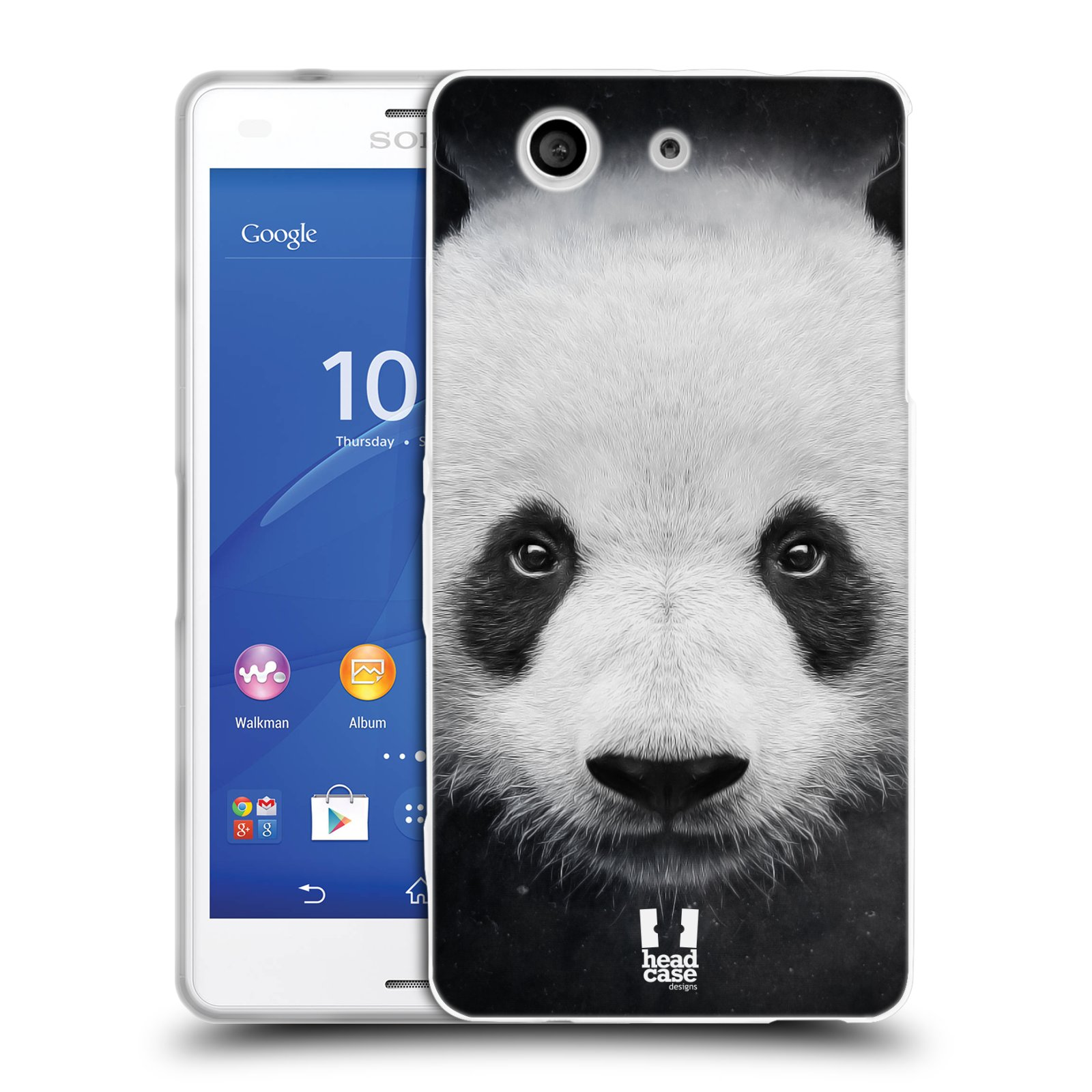 HEAD CASE silikonový obal na mobil Sony Xperia Z3 COMPACT (D5803) vzor Zvířecí tváře medvěd panda