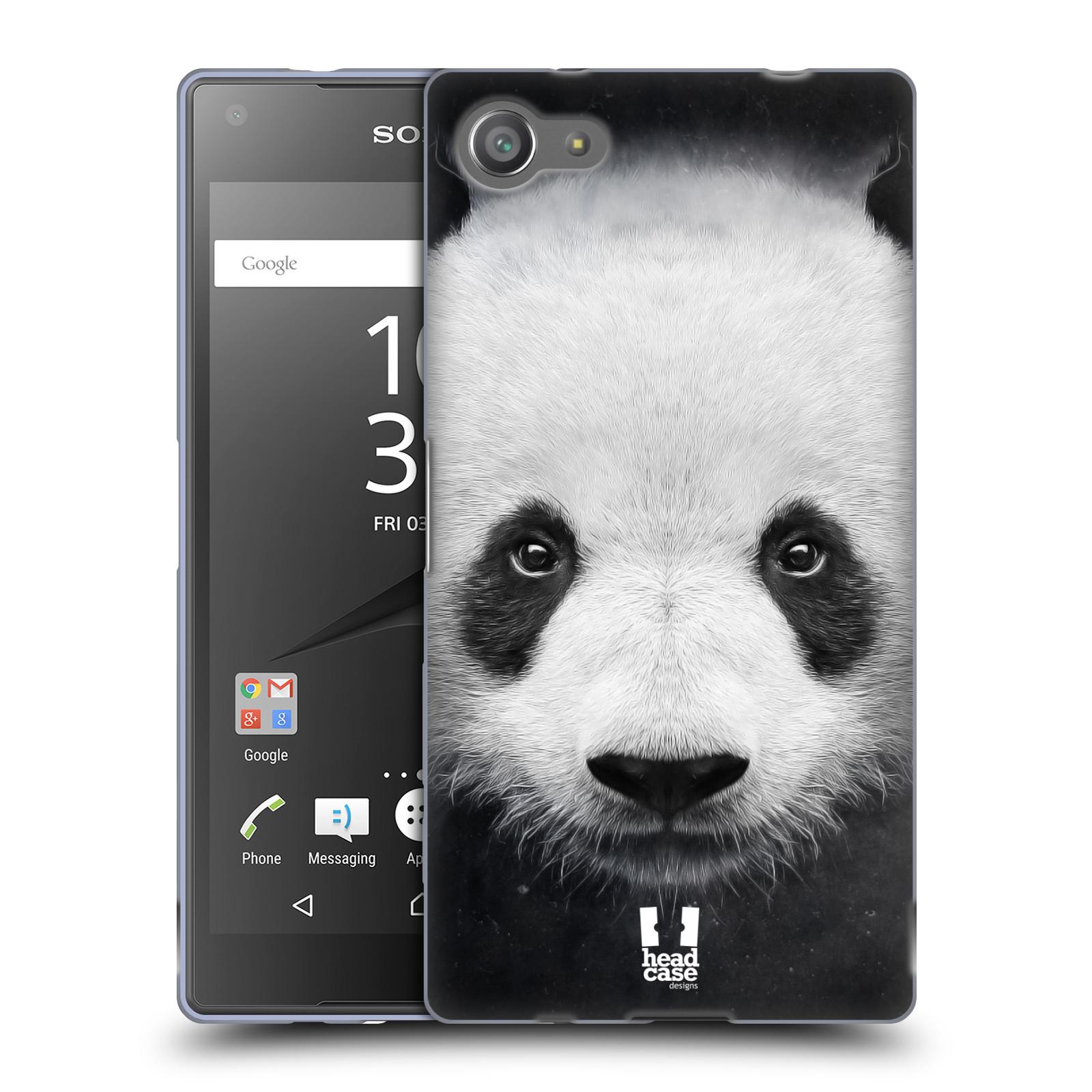 HEAD CASE silikonový obal na mobil Sony Xperia Z5 COMPACT vzor Zvířecí tváře medvěd panda