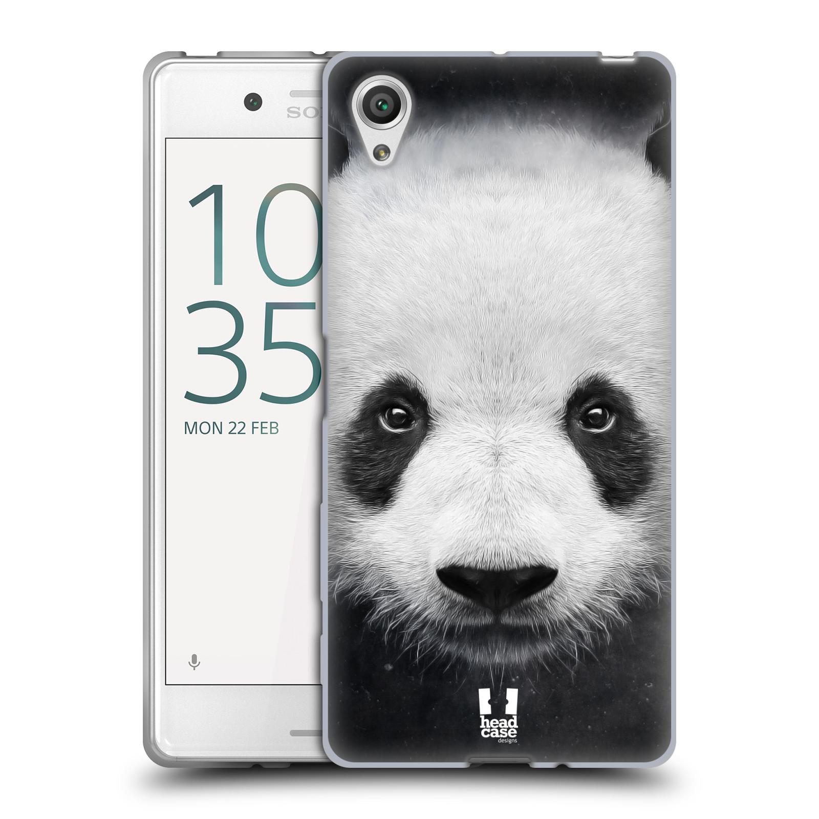 HEAD CASE silikonový obal na mobil Sony Xperia X / X DUAL vzor Zvířecí tváře medvěd panda