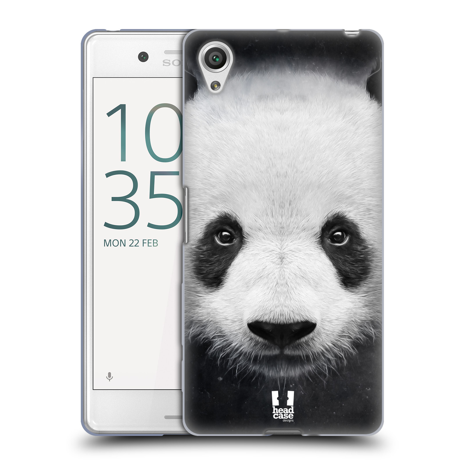HEAD CASE silikonový obal na mobil Sony Xperia X PERFORMANCE (F8131, F8132) vzor Zvířecí tváře medvěd panda