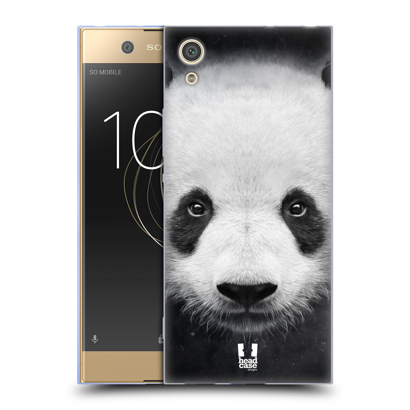 HEAD CASE silikonový obal na mobil Sony Xperia XA1 / XA1 DUAL SIM vzor Zvířecí tváře medvěd panda