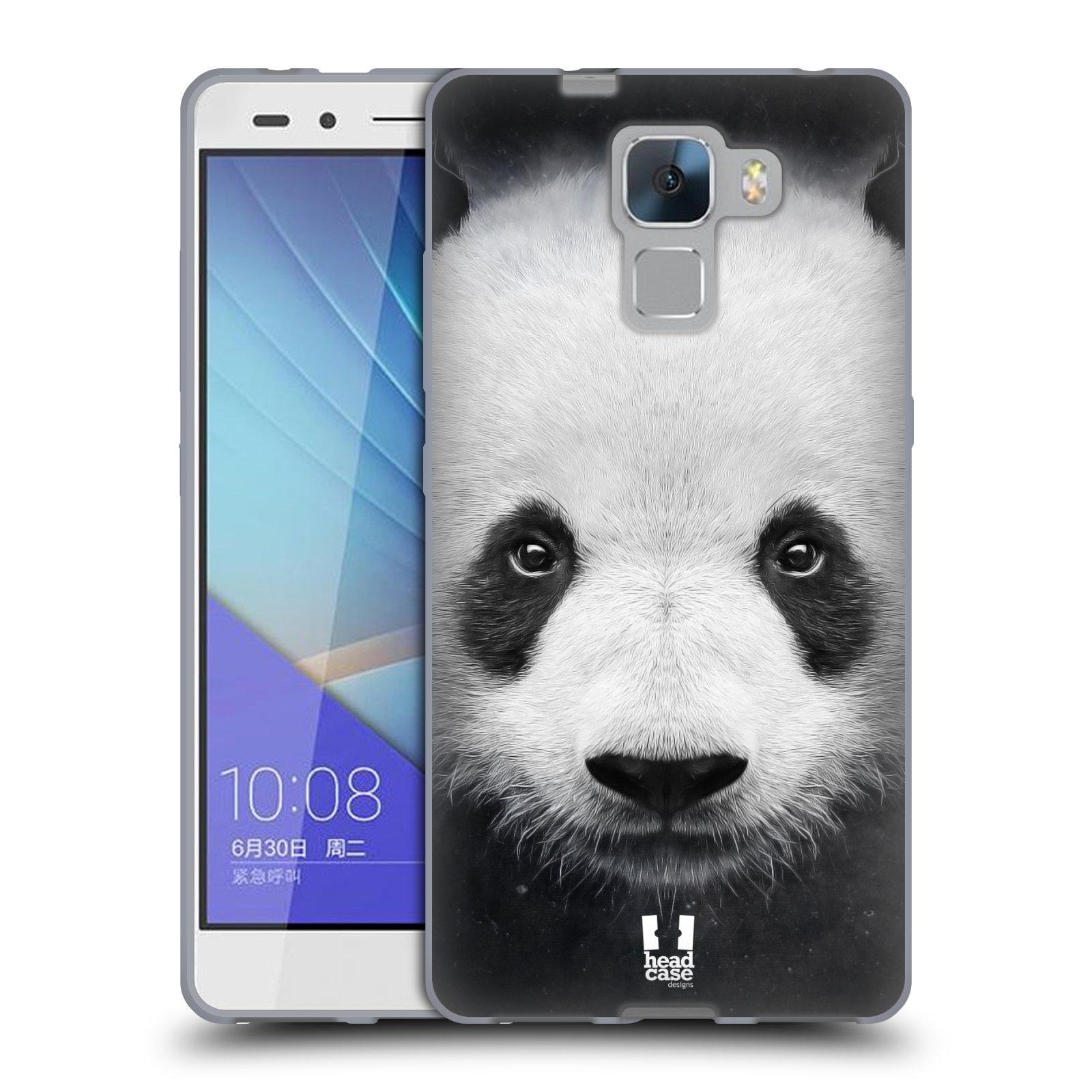 HEAD CASE silikonový obal na mobil HUAWEI HONOR 7 vzor Zvířecí tváře medvěd panda