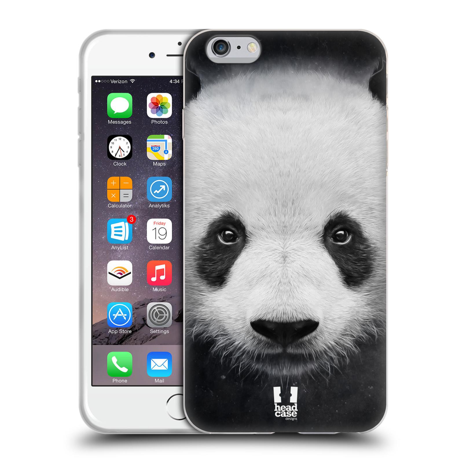 HEAD CASE silikonový obal na mobil Apple Iphone 6 PLUS/ 6S PLUS vzor Zvířecí tváře medvěd panda
