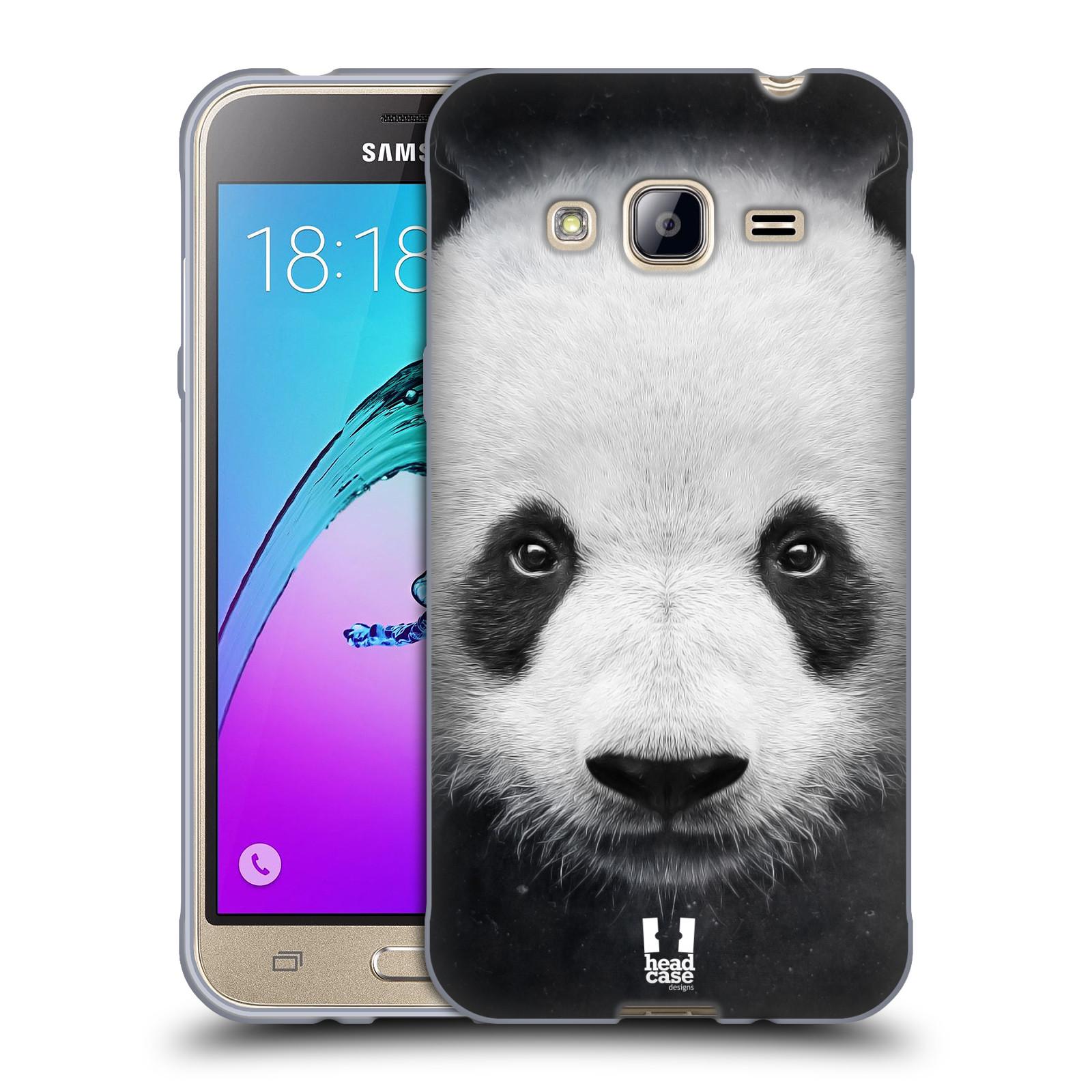 HEAD CASE silikonový obal na mobil Samsung Galaxy J3, J3 2016 vzor Zvířecí tváře medvěd panda