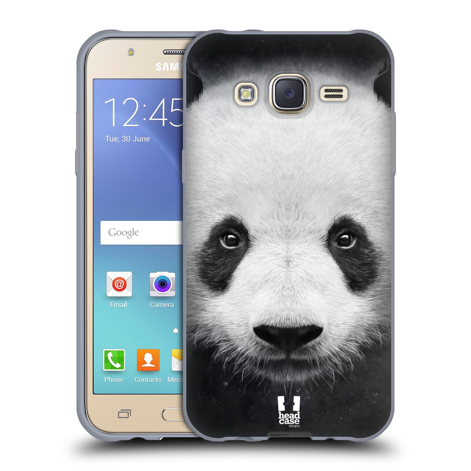 HEAD CASE silikonový obal na mobil Samsung Galaxy J5, J500, (J5 DUOS) vzor Zvířecí tváře medvěd panda