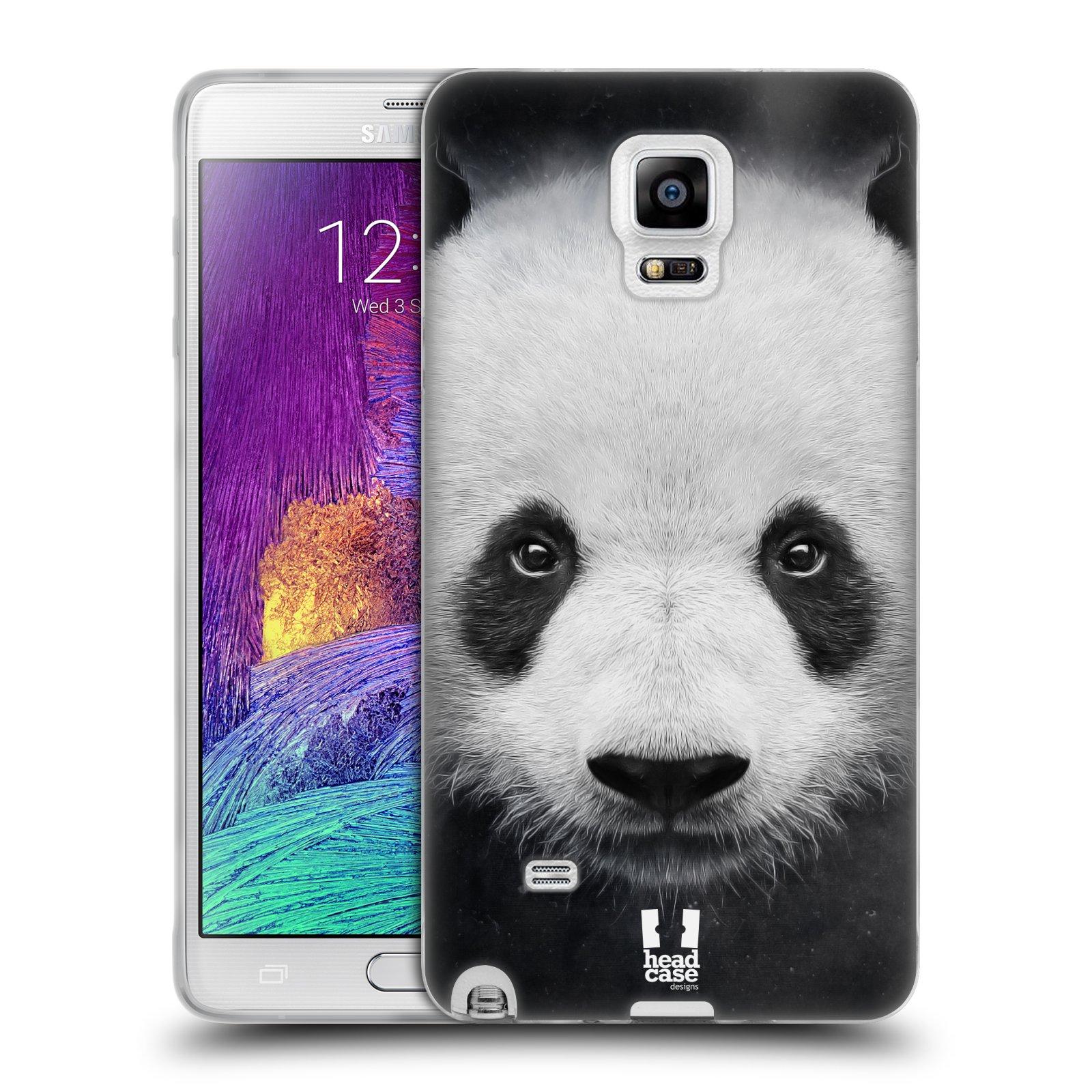 HEAD CASE silikonový obal na mobil Samsung Galaxy Note 4 (N910) vzor Zvířecí tváře medvěd panda