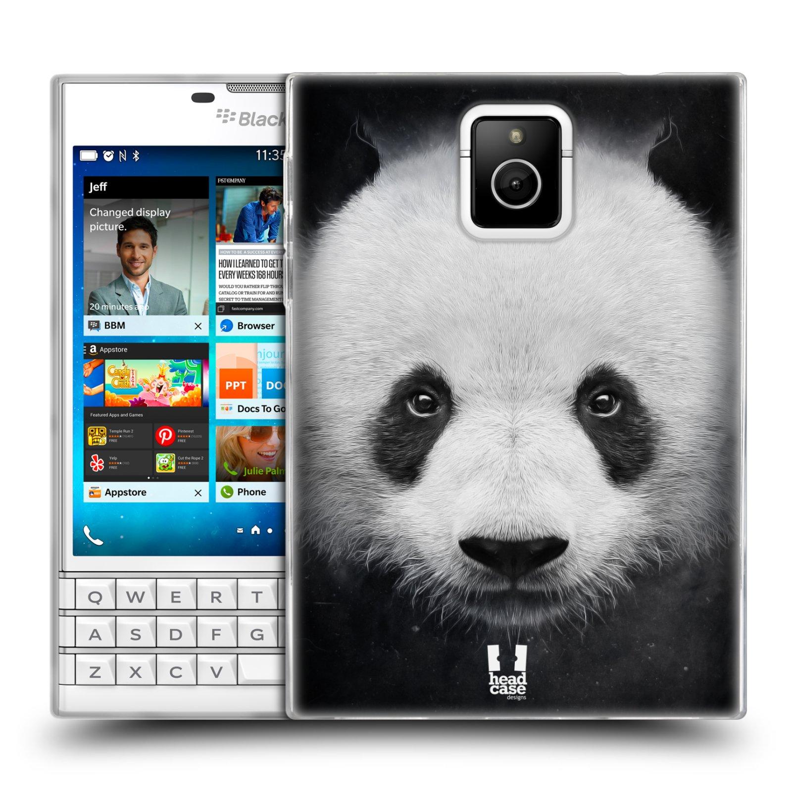 HEAD CASE silikonový obal na mobil Blackberry PASSPORT vzor Zvířecí tváře medvěd panda