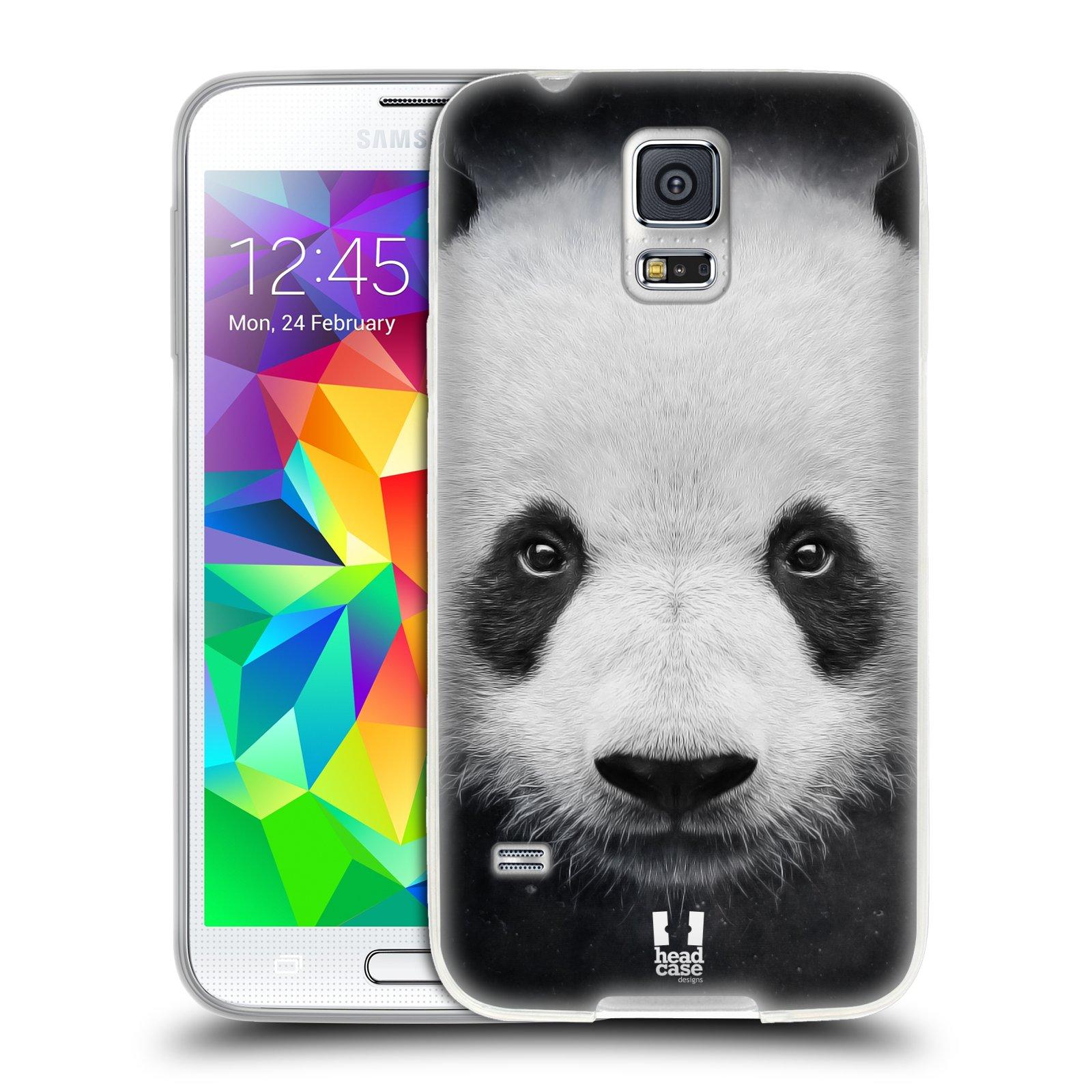 HEAD CASE silikonový obal na mobil Samsung Galaxy S5/S5 NEO vzor Zvířecí tváře medvěd panda
