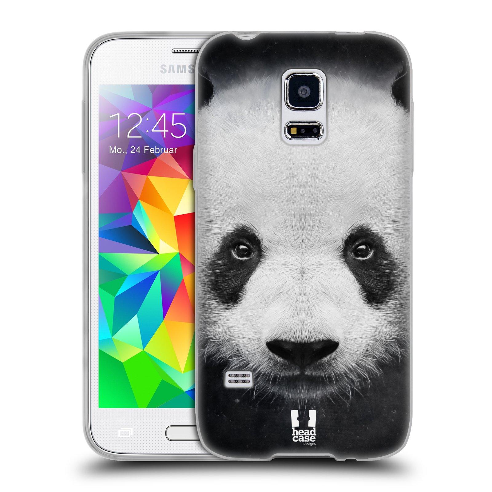 HEAD CASE silikonový obal na mobil Samsung Galaxy S5 MINI vzor Zvířecí tváře medvěd panda