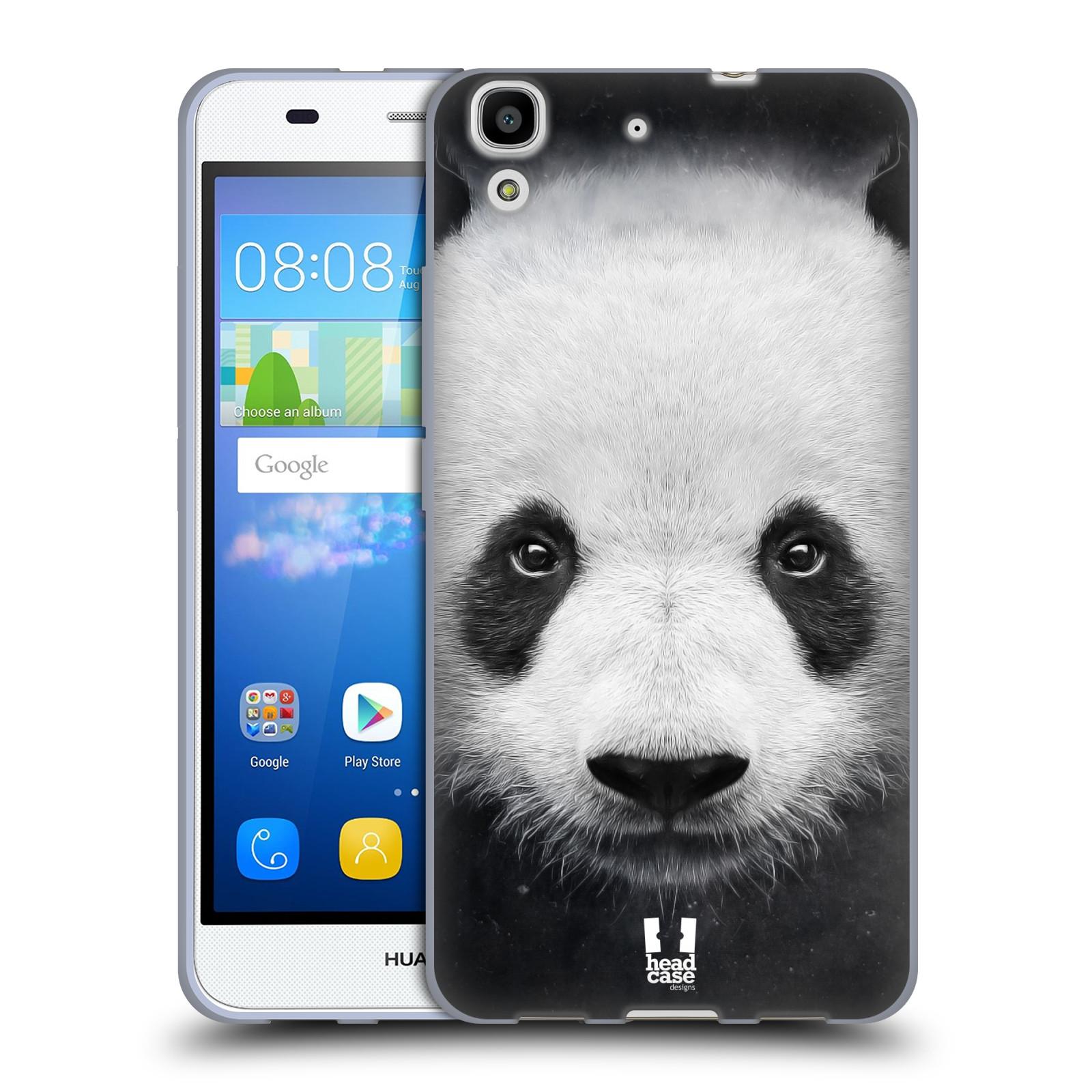 HEAD CASE silikonový obal na mobil HUAWEI Y6 vzor Zvířecí tváře medvěd panda