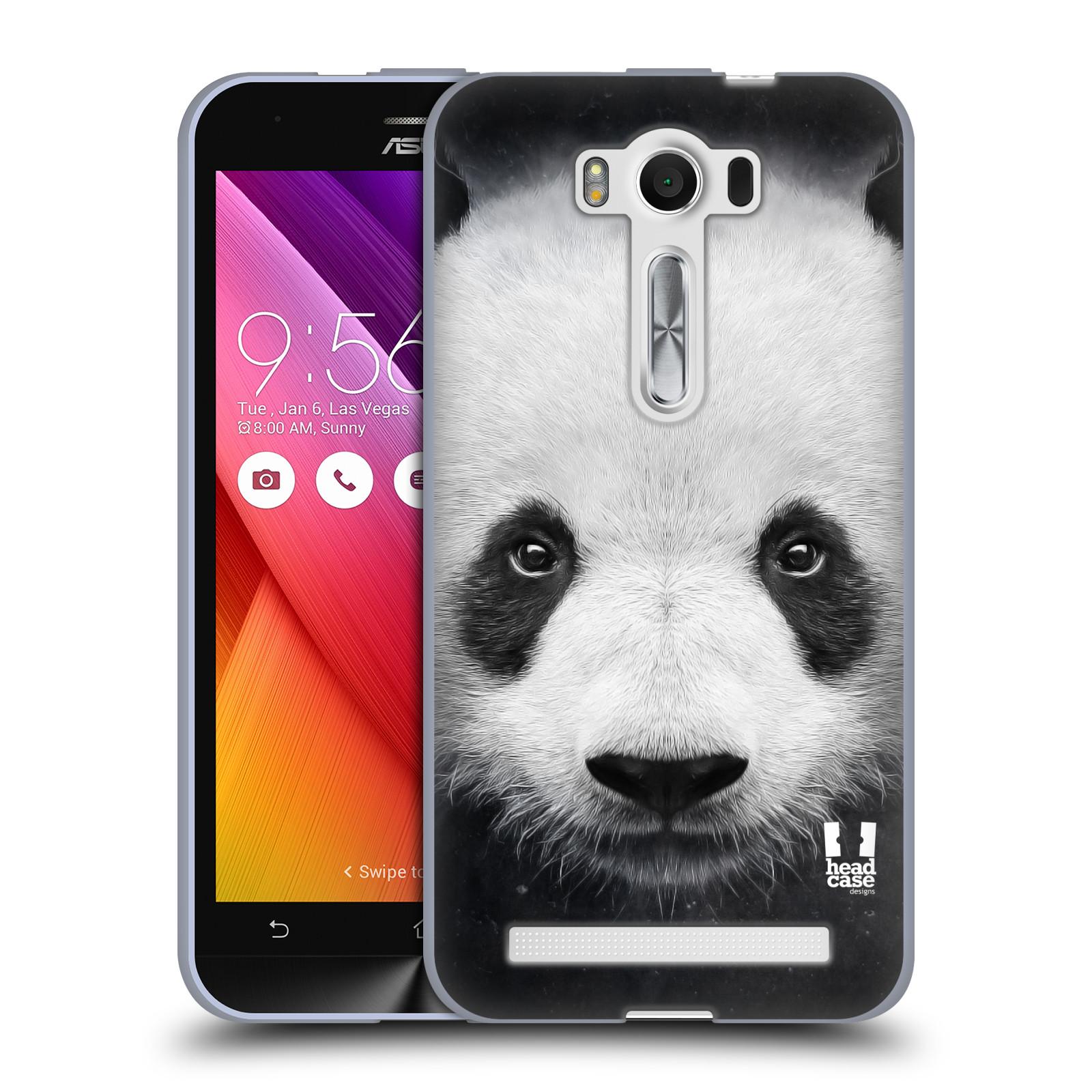 """HEAD CASE silikonový obal na mobil Asus Zenfone 2 LASER (ZE500KL s 5"""" displejem) vzor Zvířecí tváře medvěd panda"""