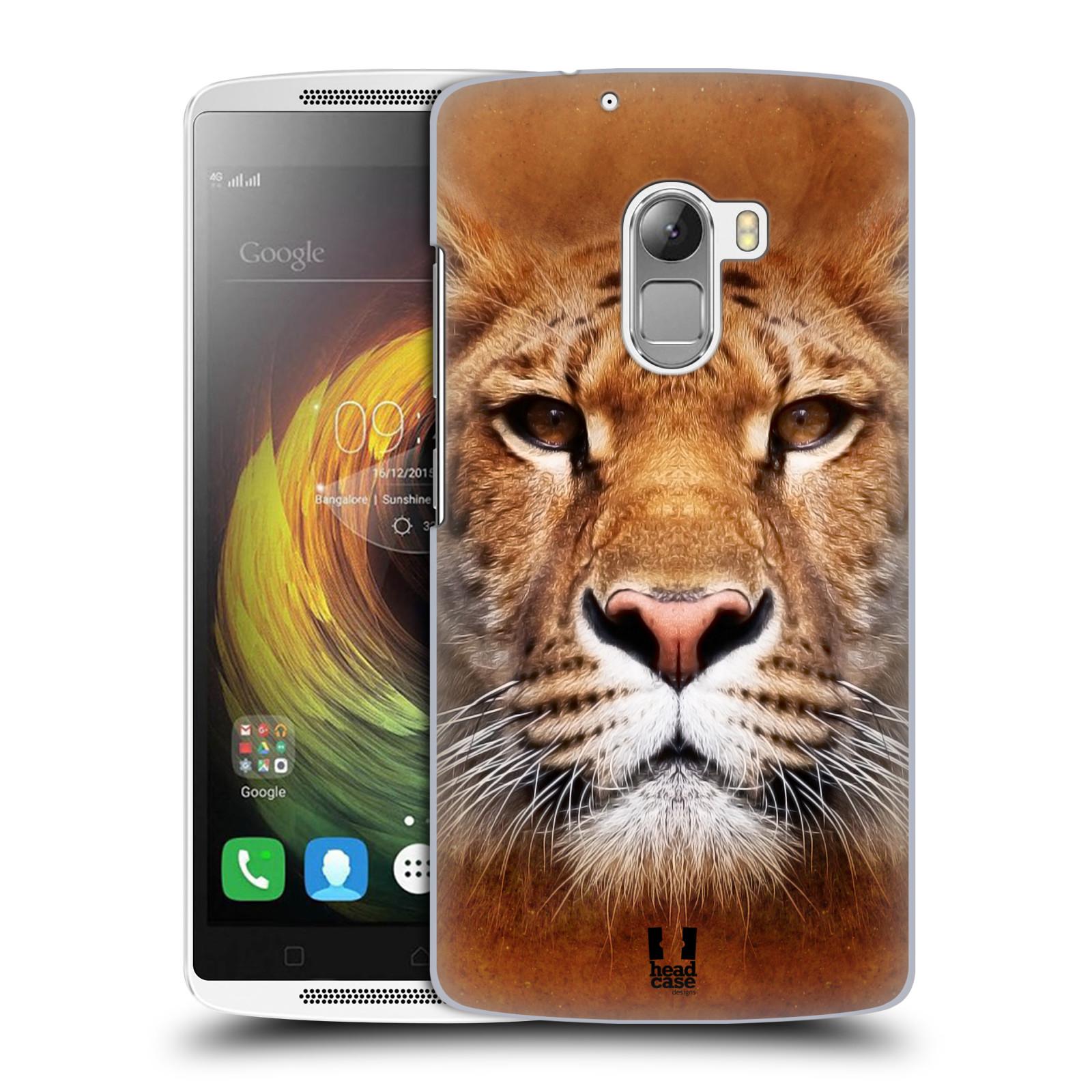 HEAD CASE pevný plastový obal na mobil LENOVO A7010 / A7010 DUAL / K4 Note / Vibe X3 lite vzor Zvířecí tváře Sibiřský tygr