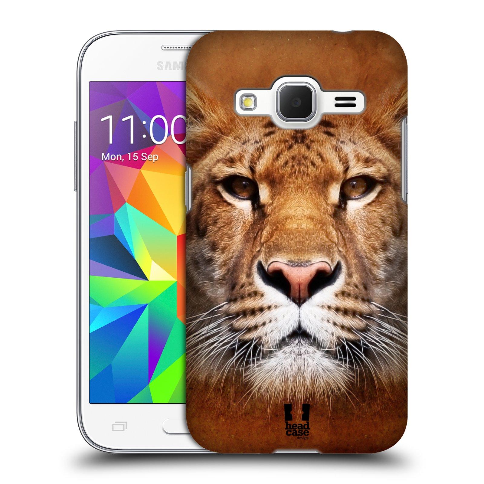 HEAD CASE plastový obal na mobil SAMSUNG GALAXY Core Prime (Core Prime VE) vzor Zvířecí tváře Sibiřský tygr