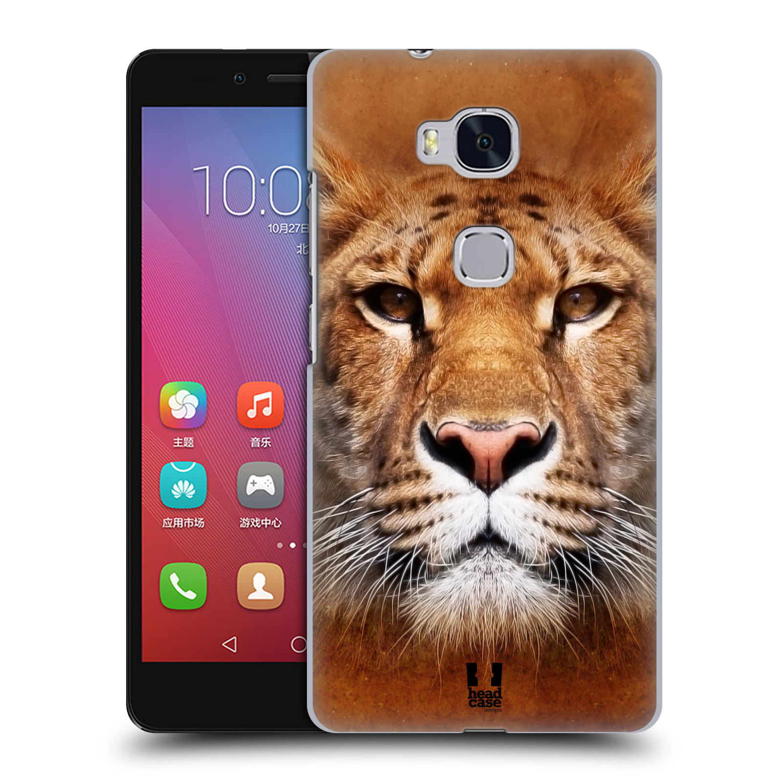 HEAD CASE pevný plastový obal na mobil HUAWEI HONOR 5X vzor Zvířecí tváře Sibiřský tygr