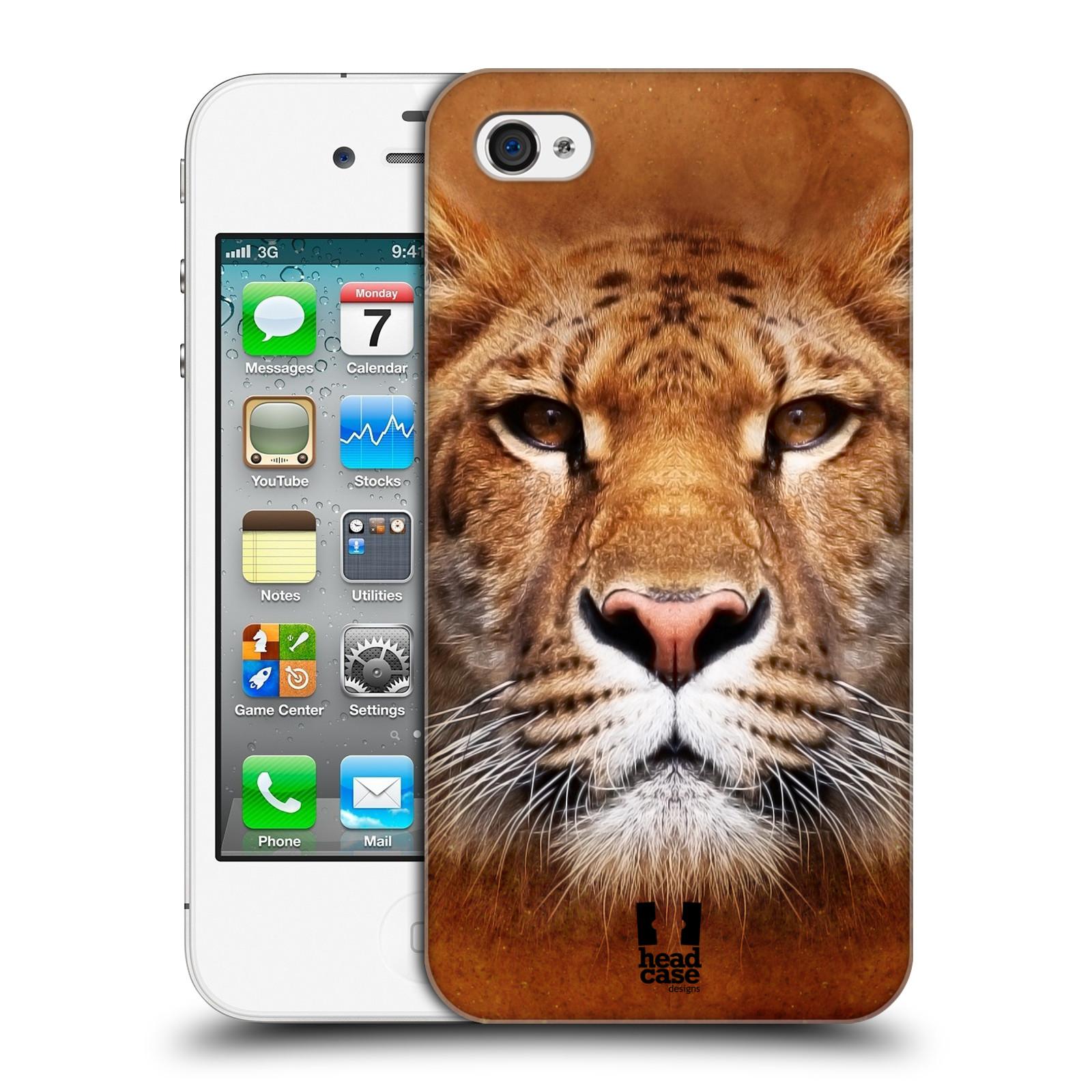 HEAD CASE plastový obal na mobil Apple Iphone 4/4S vzor Zvířecí tváře Sibiřský tygr