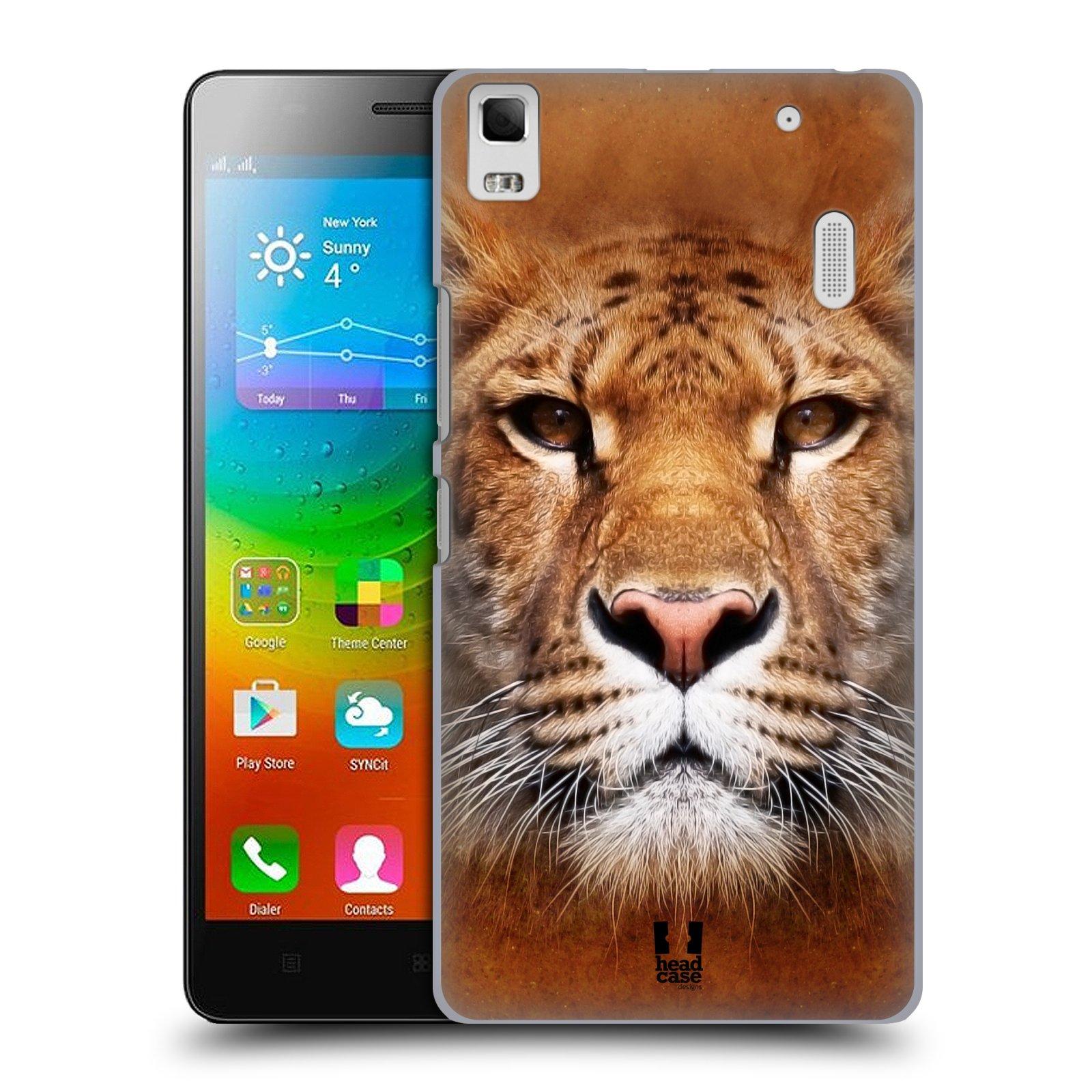 HEAD CASE pevný plastový obal na mobil LENOVO A7000 / A7000 DUAL / K3 NOTE vzor Zvířecí tváře Sibiřský tygr