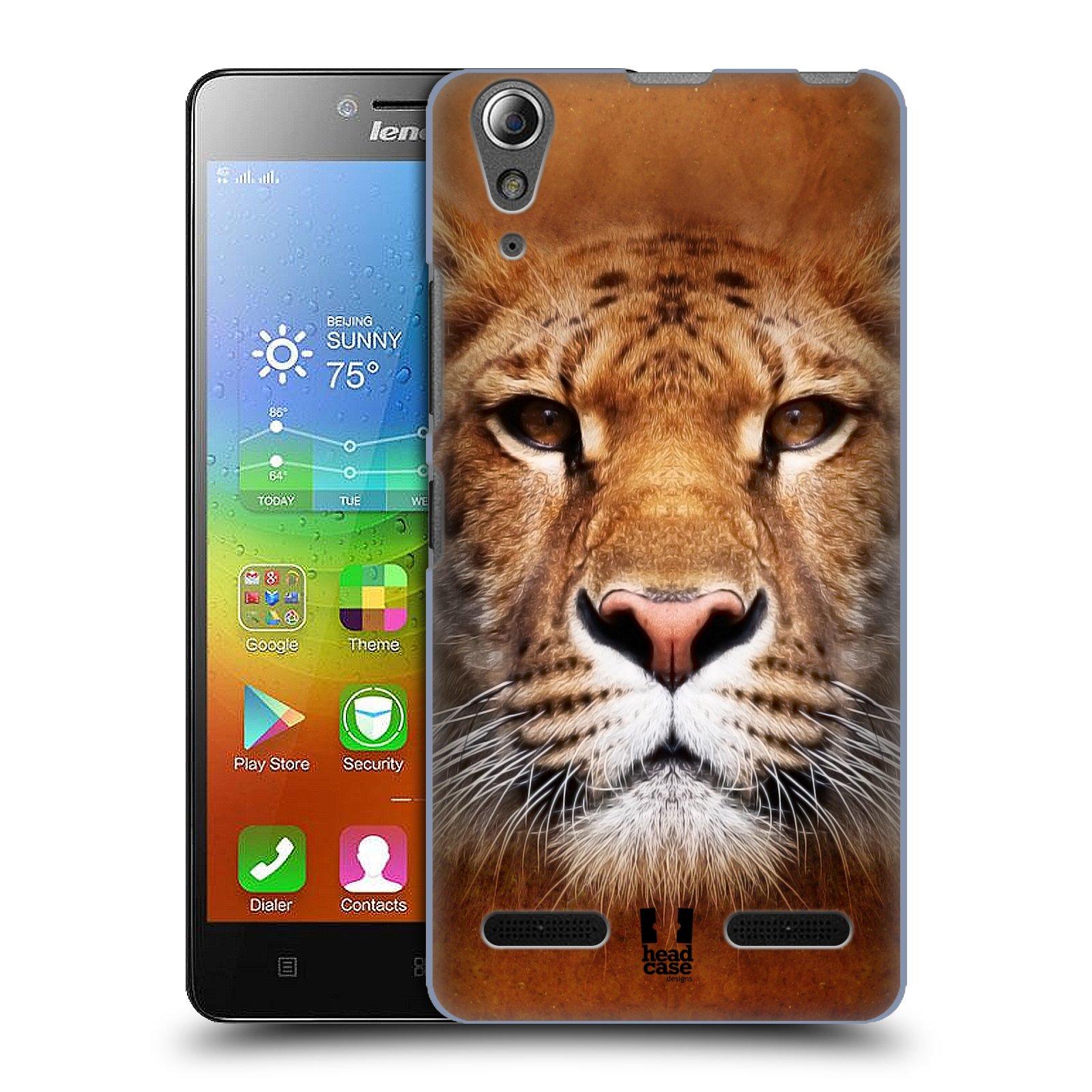 HEAD CASE pevný plastový obal na mobil LENOVO A6000 / A6000 PLUS vzor Zvířecí tváře Sibiřský tygr
