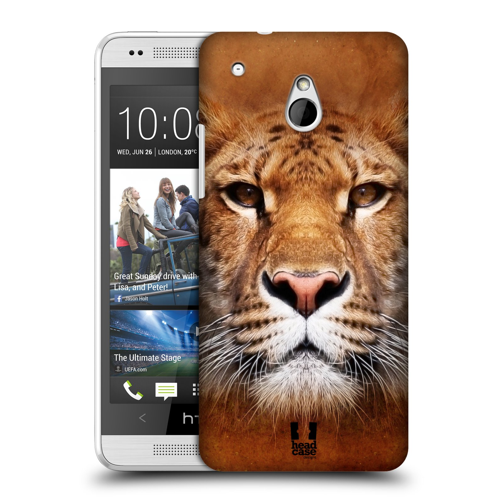HEAD CASE VOLTI DI ANIMALI SERIE 1 CASE PER HTC ONE MINI