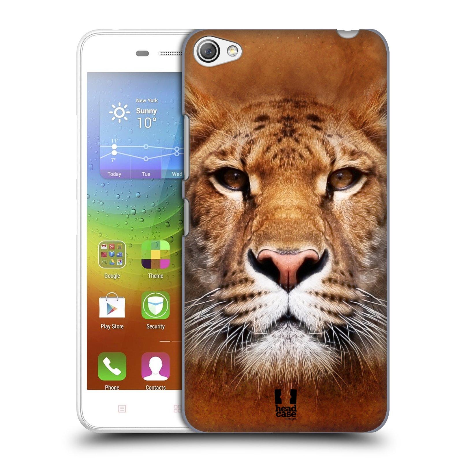 HEAD CASE pevný plastový obal na mobil LENOVO S60 / LENOVO S60 DUAL SIM vzor Zvířecí tváře Sibiřský tygr