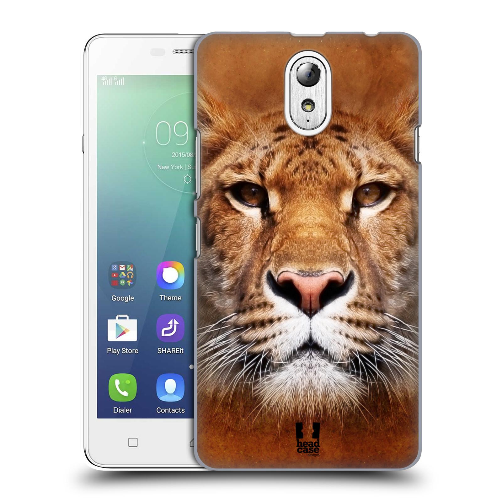 HEAD CASE pevný plastový obal na mobil LENOVO VIBE P1m / LENOVO VIBE p1m DUAL SIM vzor Zvířecí tváře Sibiřský tygr