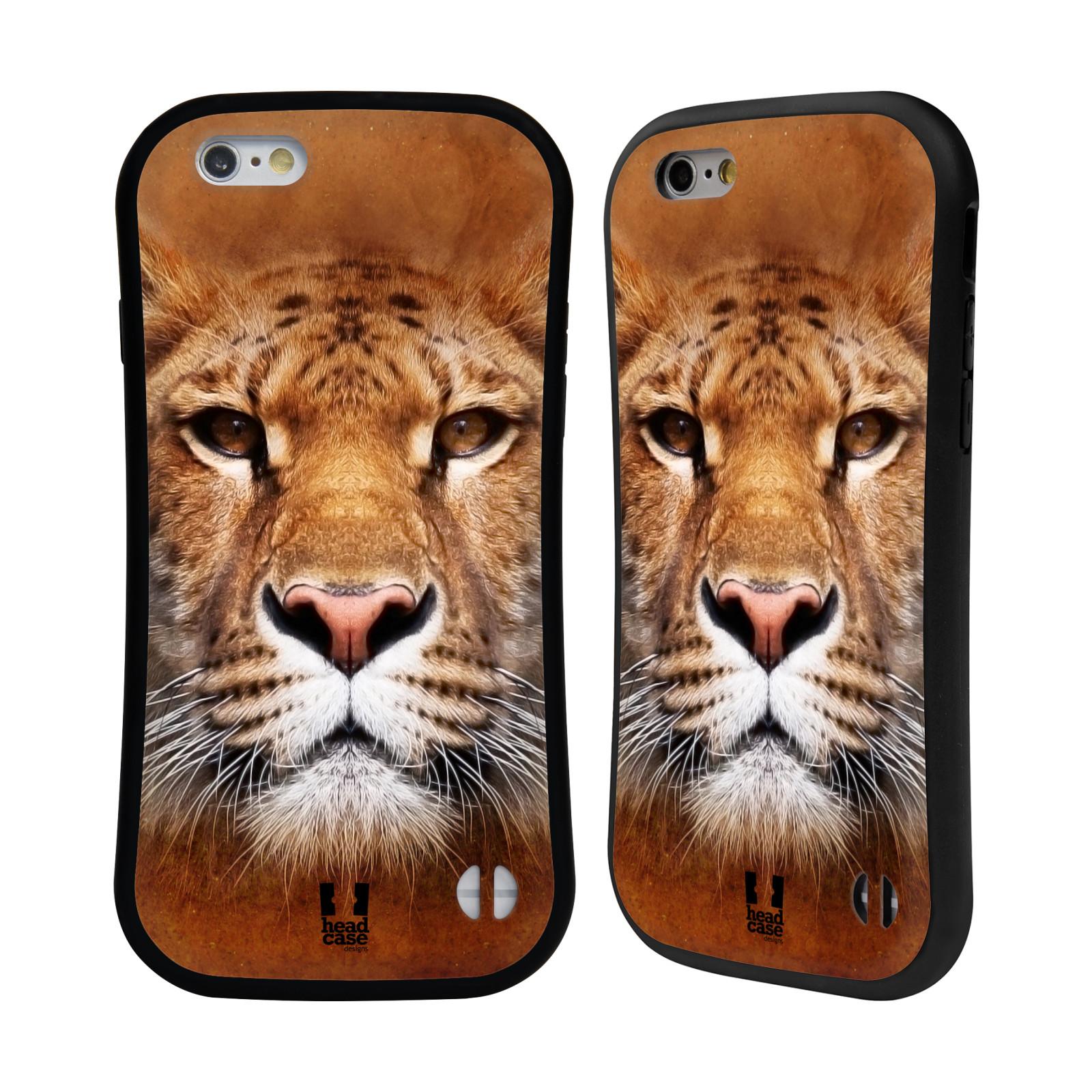 HEAD CASE silikon/plast odolný obal na mobil Apple Iphone 6/6S vzor Zvířecí tváře Sibiřský tygr