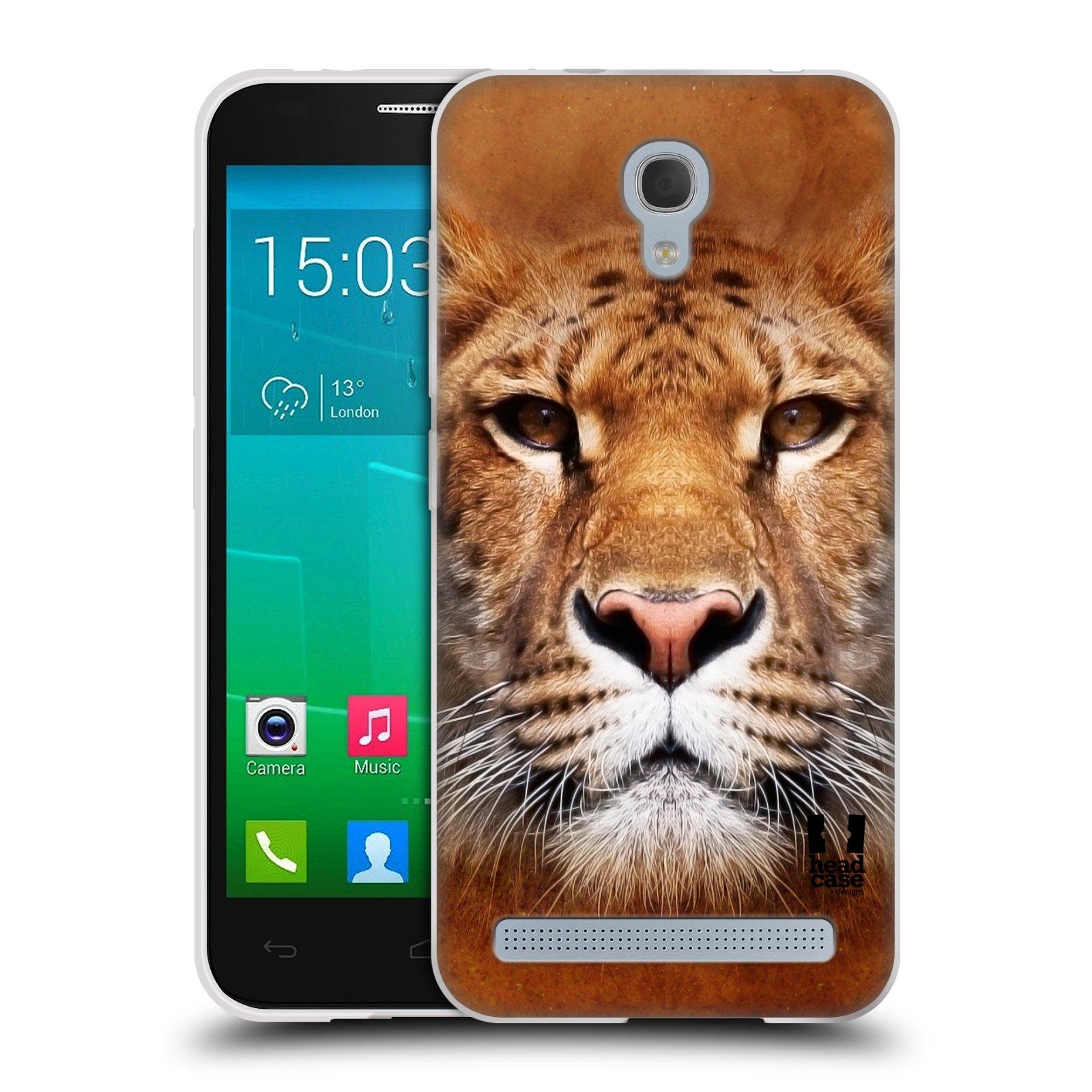 HEAD CASE silikonový obal na mobil Alcatel Idol 2 MINI S 6036Y vzor Zvířecí tváře Sibiřský tygr