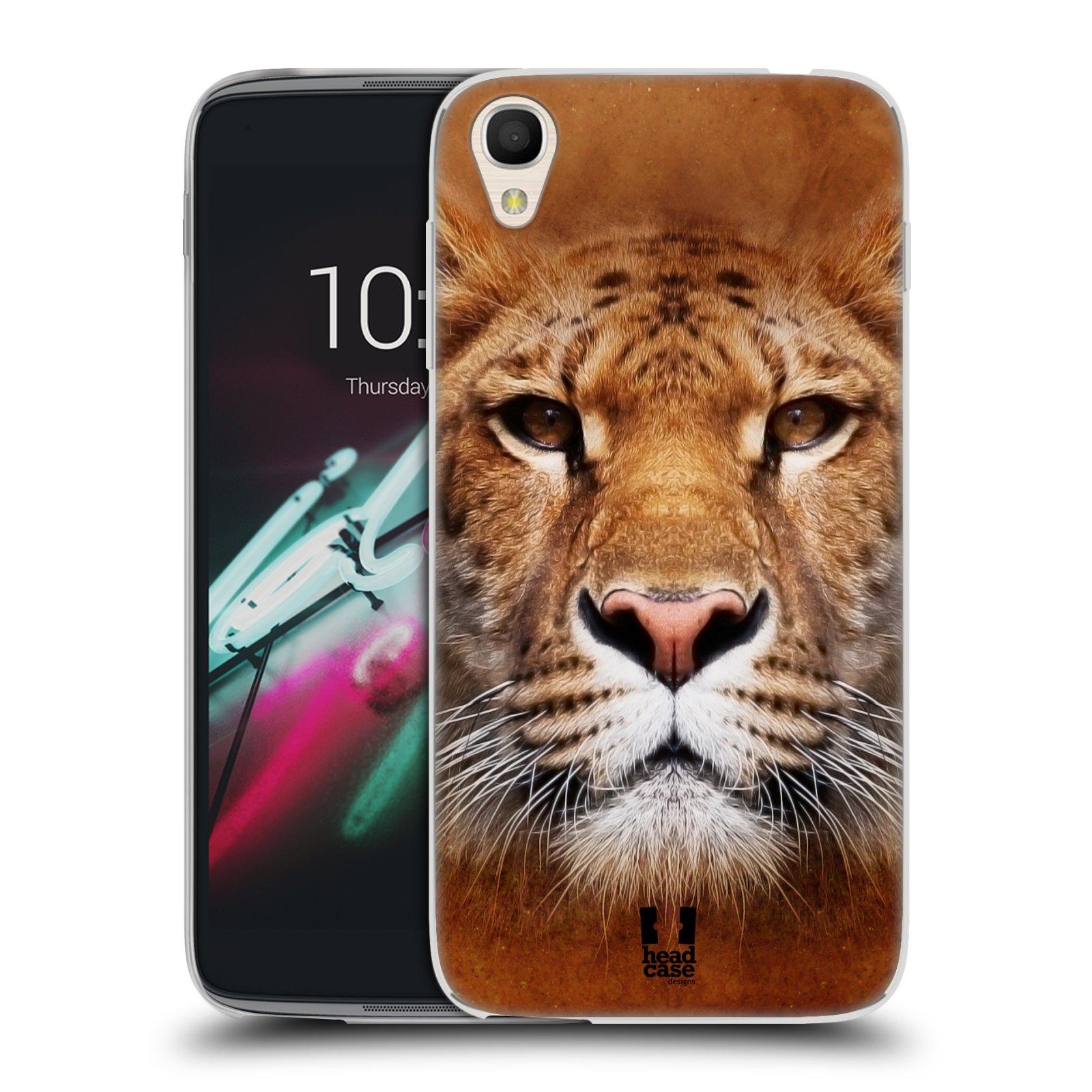 HEAD CASE silikonový obal na mobil Alcatel Idol 3 OT-6039Y (4.7) vzor Zvířecí tváře Sibiřský tygr