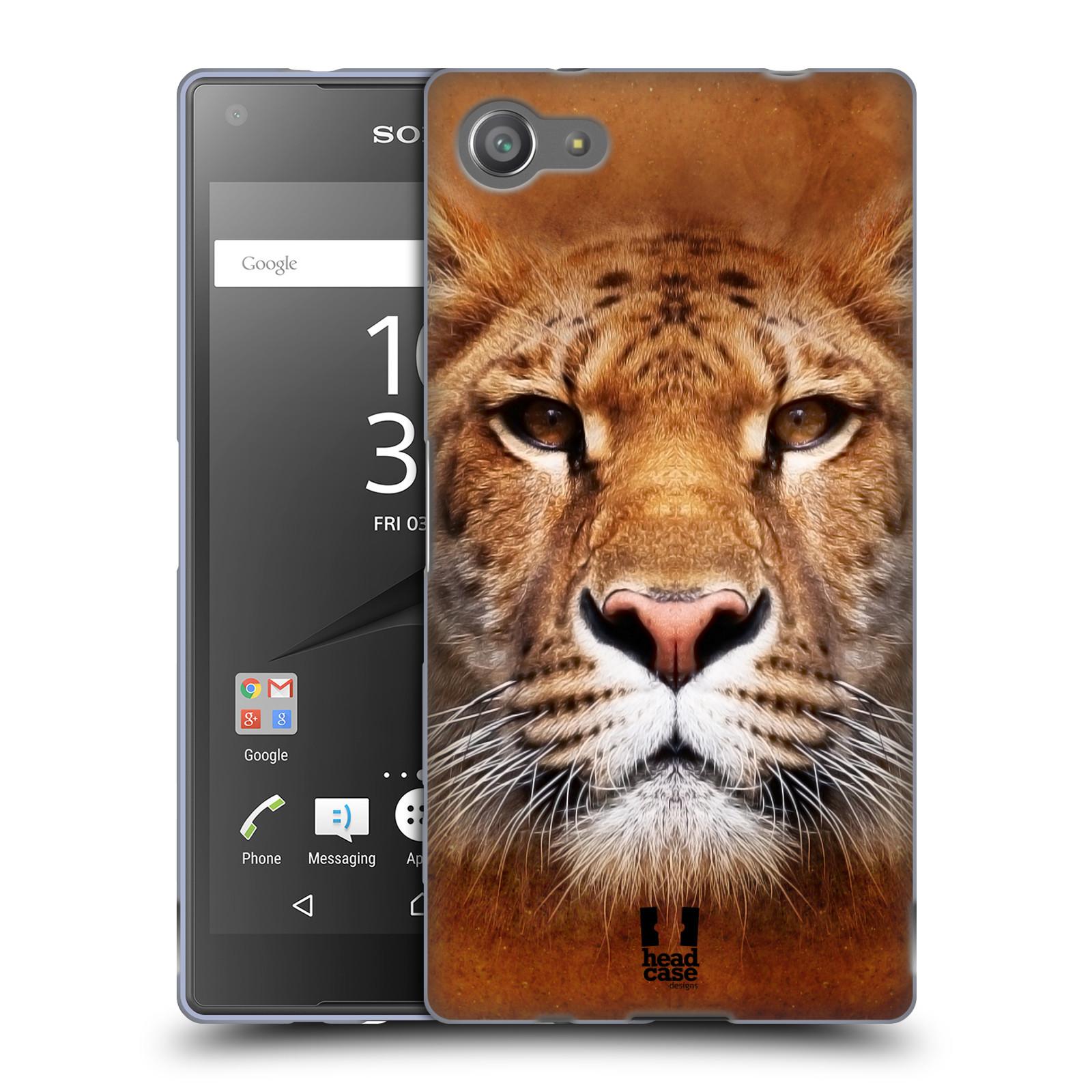 HEAD CASE silikonový obal na mobil Sony Xperia Z5 COMPACT vzor Zvířecí tváře Sibiřský tygr