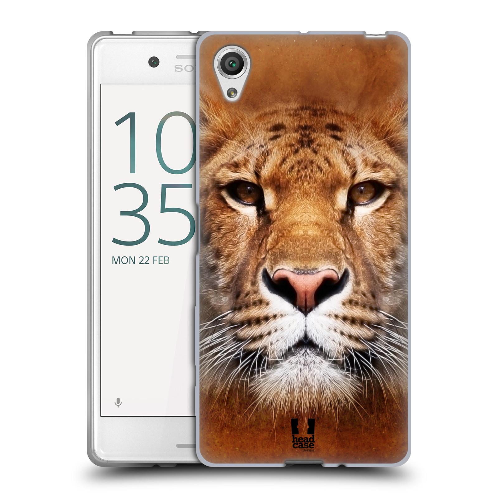 HEAD CASE silikonový obal na mobil Sony Xperia X / X DUAL vzor Zvířecí tváře Sibiřský tygr