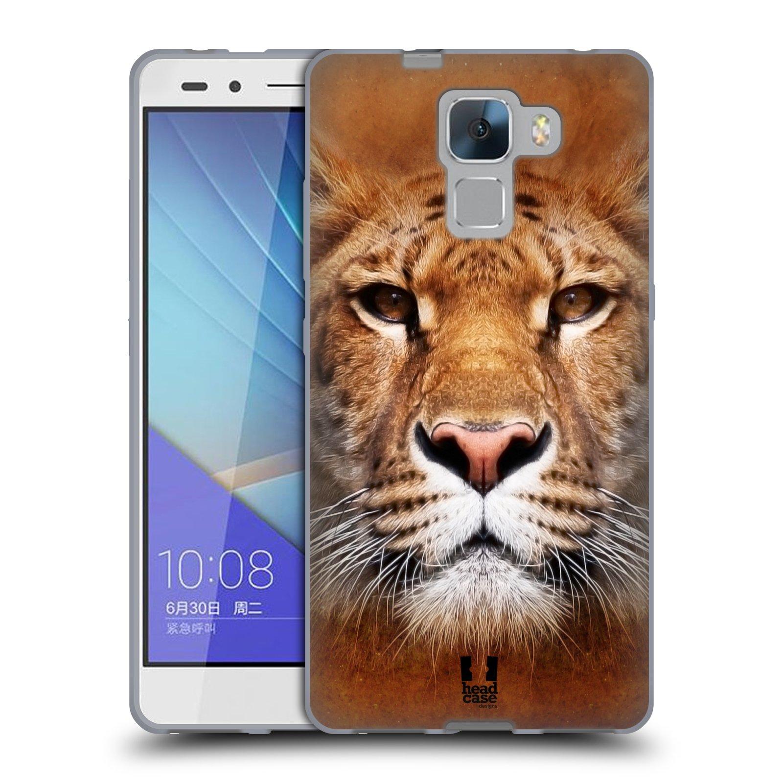 HEAD CASE silikonový obal na mobil HUAWEI HONOR 7 vzor Zvířecí tváře Sibiřský tygr