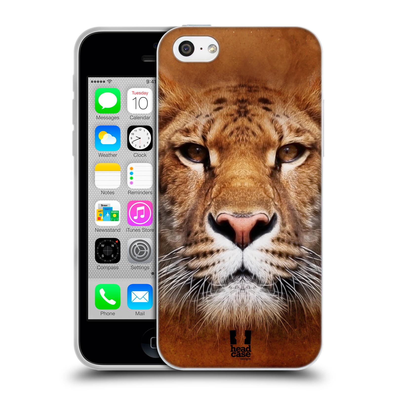 HEAD CASE silikonový obal na mobil Apple Iphone 5C vzor Zvířecí tváře Sibiřský tygr