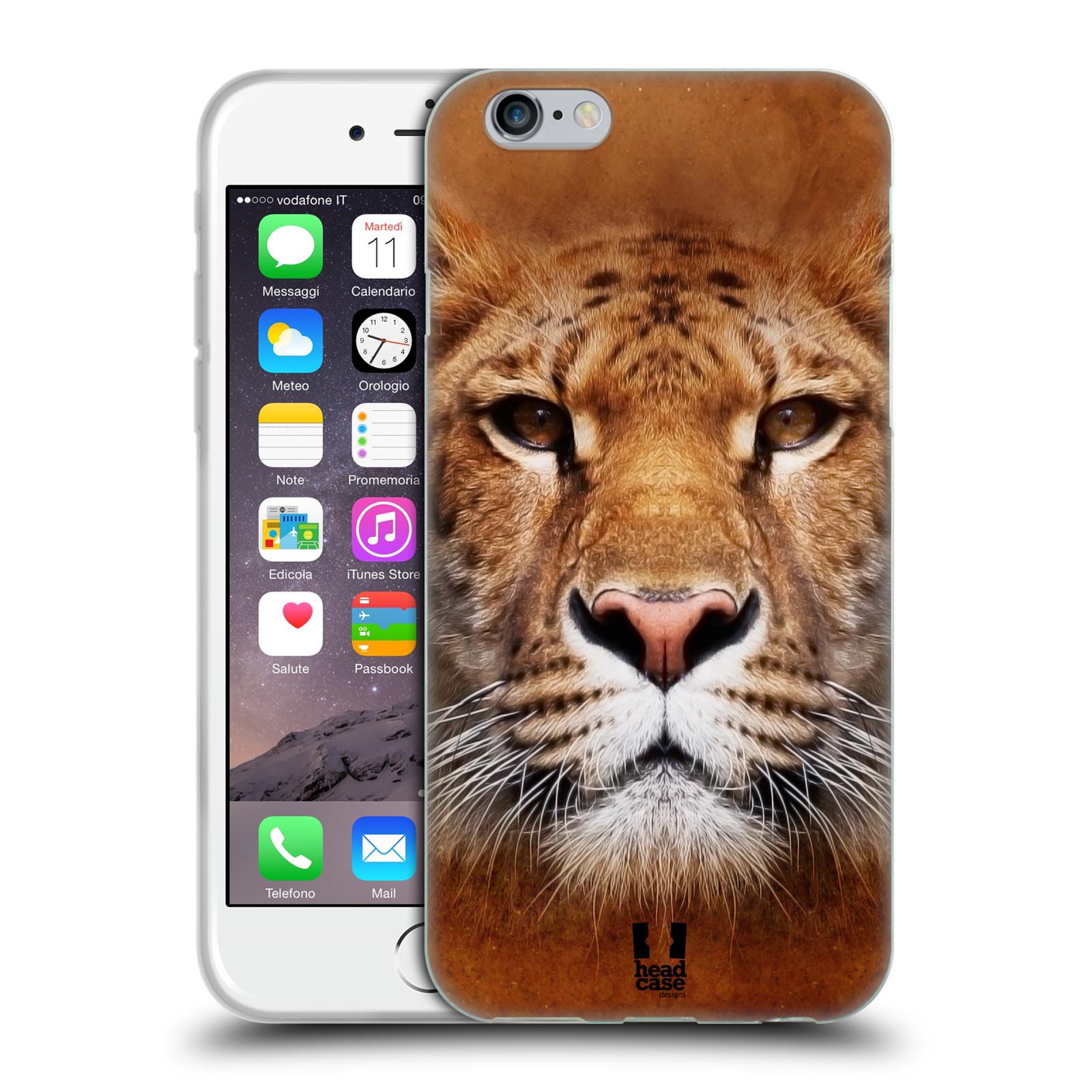 HEAD CASE silikonový obal na mobil Apple Iphone 6/6S vzor Zvířecí tváře Sibiřský tygr