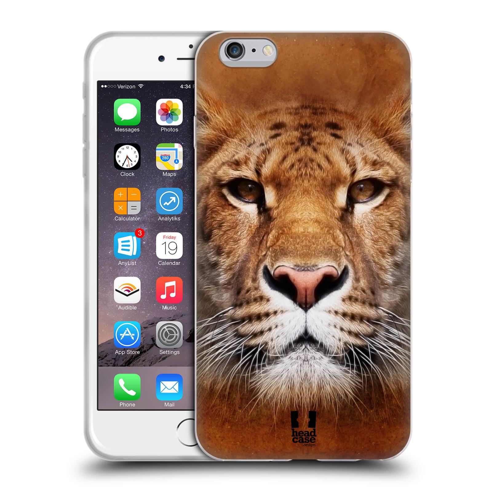 HEAD CASE silikonový obal na mobil Apple Iphone 6 PLUS/ 6S PLUS vzor Zvířecí tváře Sibiřský tygr