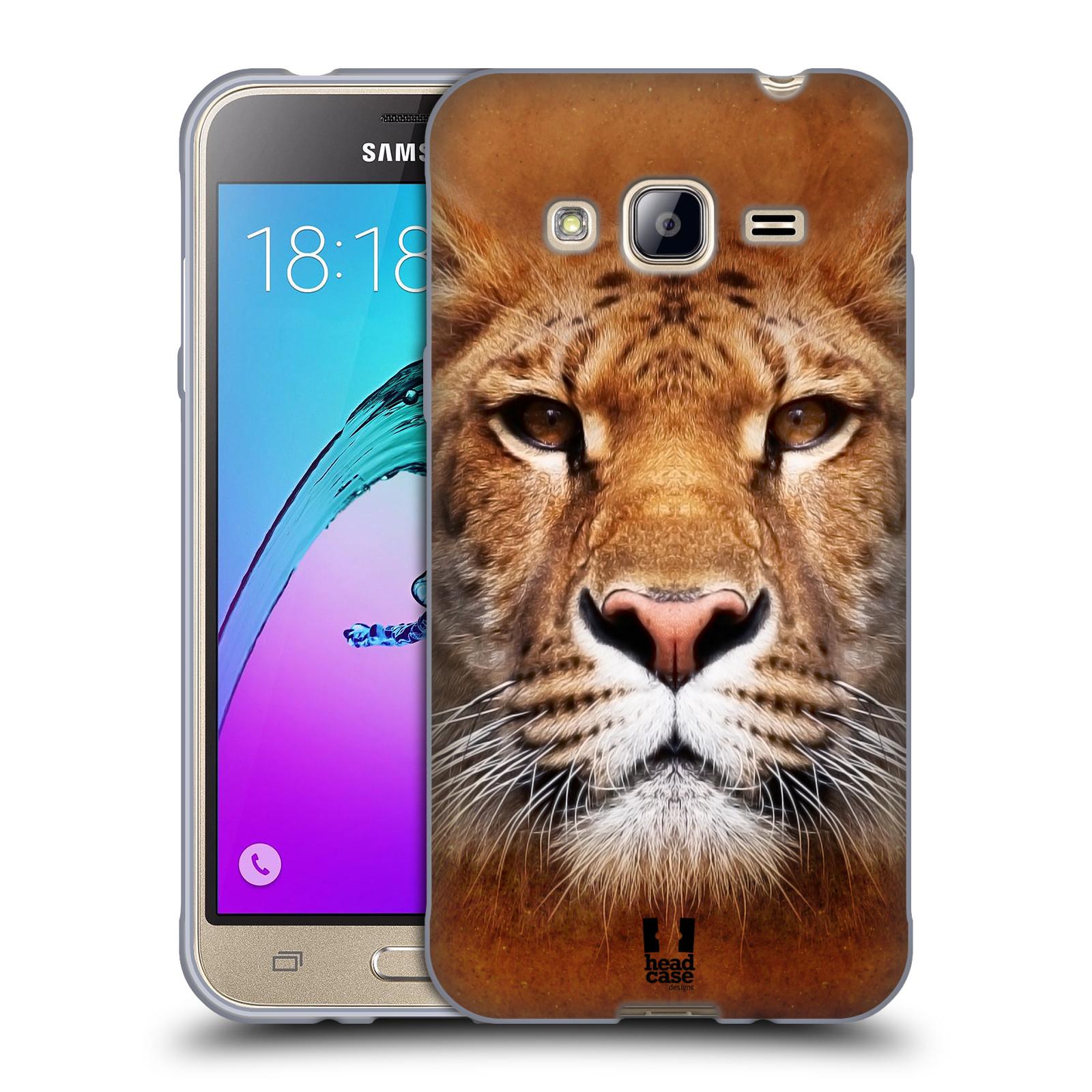 HEAD CASE silikonový obal na mobil Samsung Galaxy J3, J3 2016 vzor Zvířecí tváře Sibiřský tygr