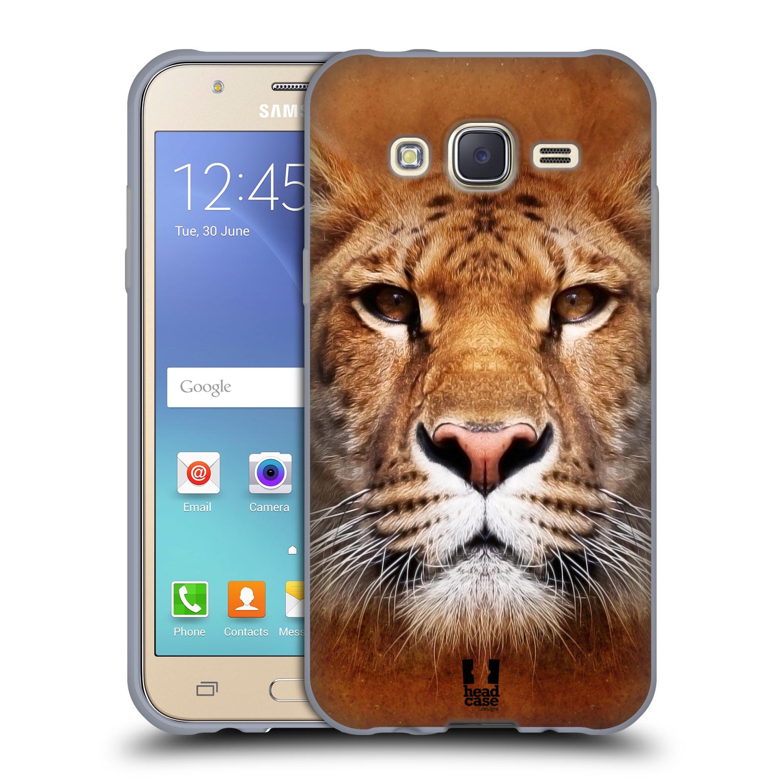 HEAD CASE silikonový obal na mobil Samsung Galaxy J5, J500, (J5 DUOS) vzor Zvířecí tváře Sibiřský tygr