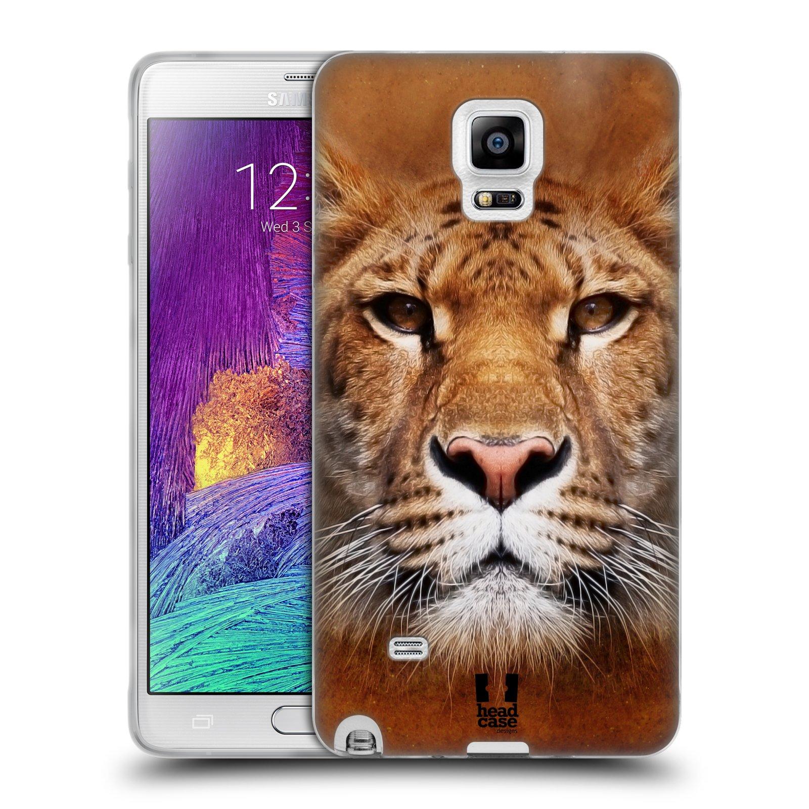 HEAD CASE silikonový obal na mobil Samsung Galaxy Note 4 (N910) vzor Zvířecí tváře Sibiřský tygr